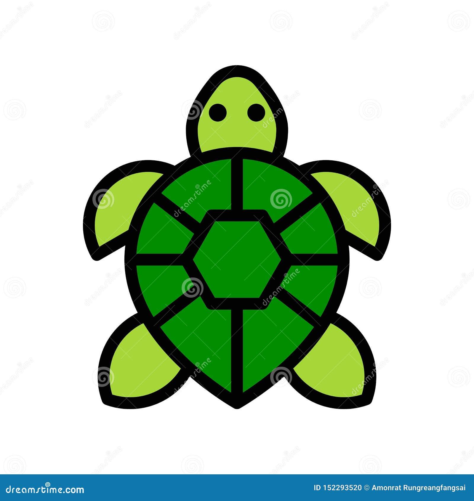 Vector de la tortuga, icono llenado relacionado tropical del estilo