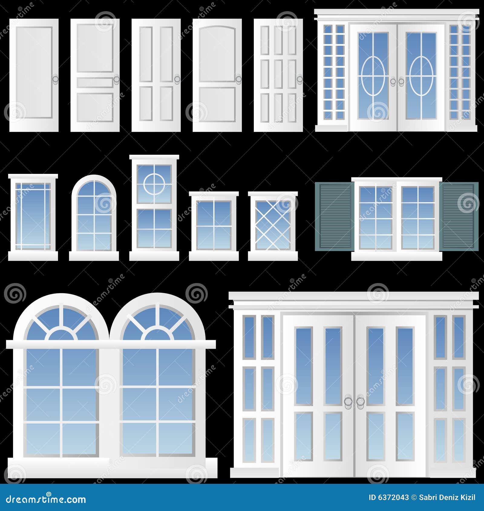 Vector de la ventana y de la puerta