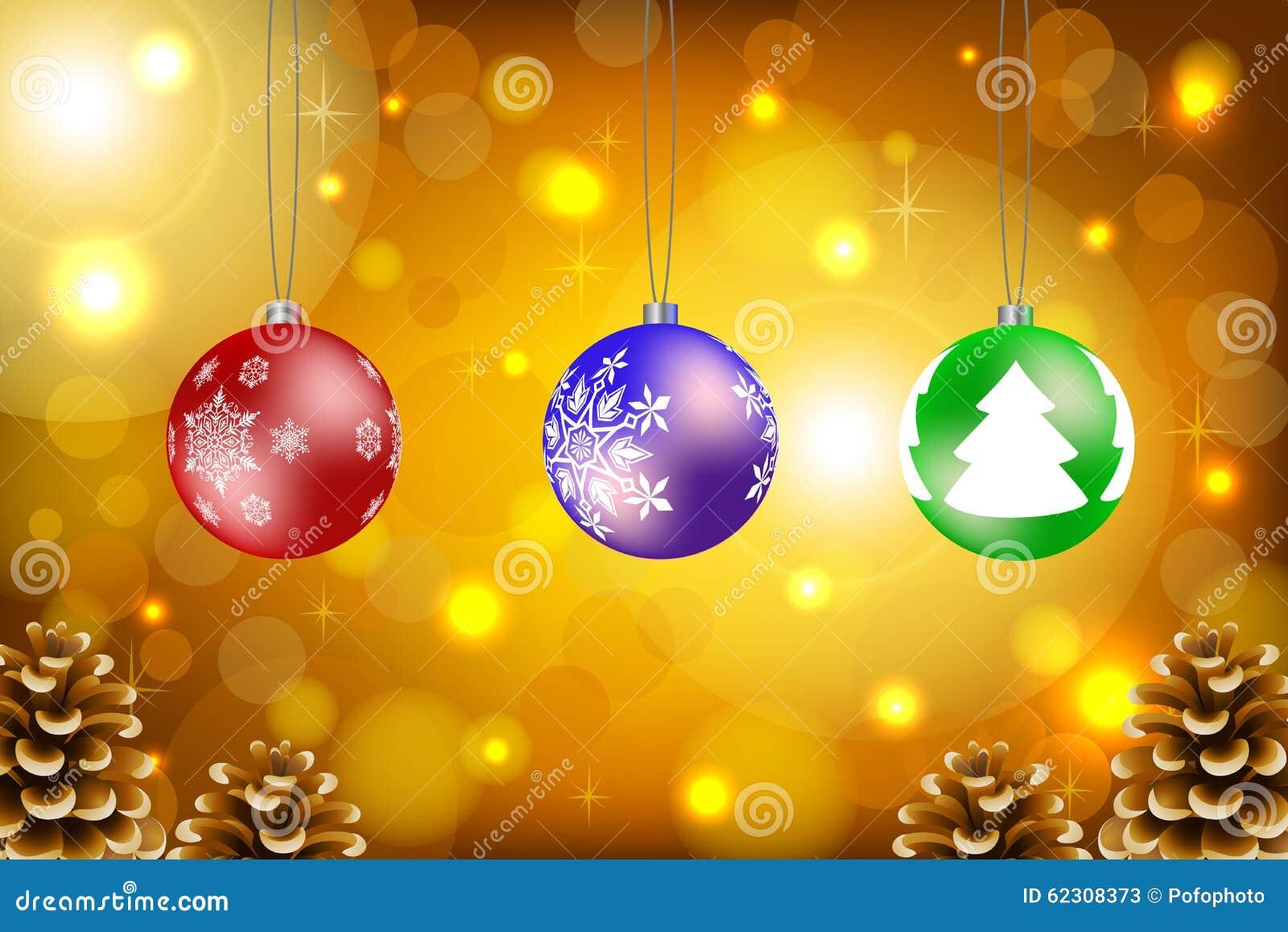 Vector de las bolas de la Navidad