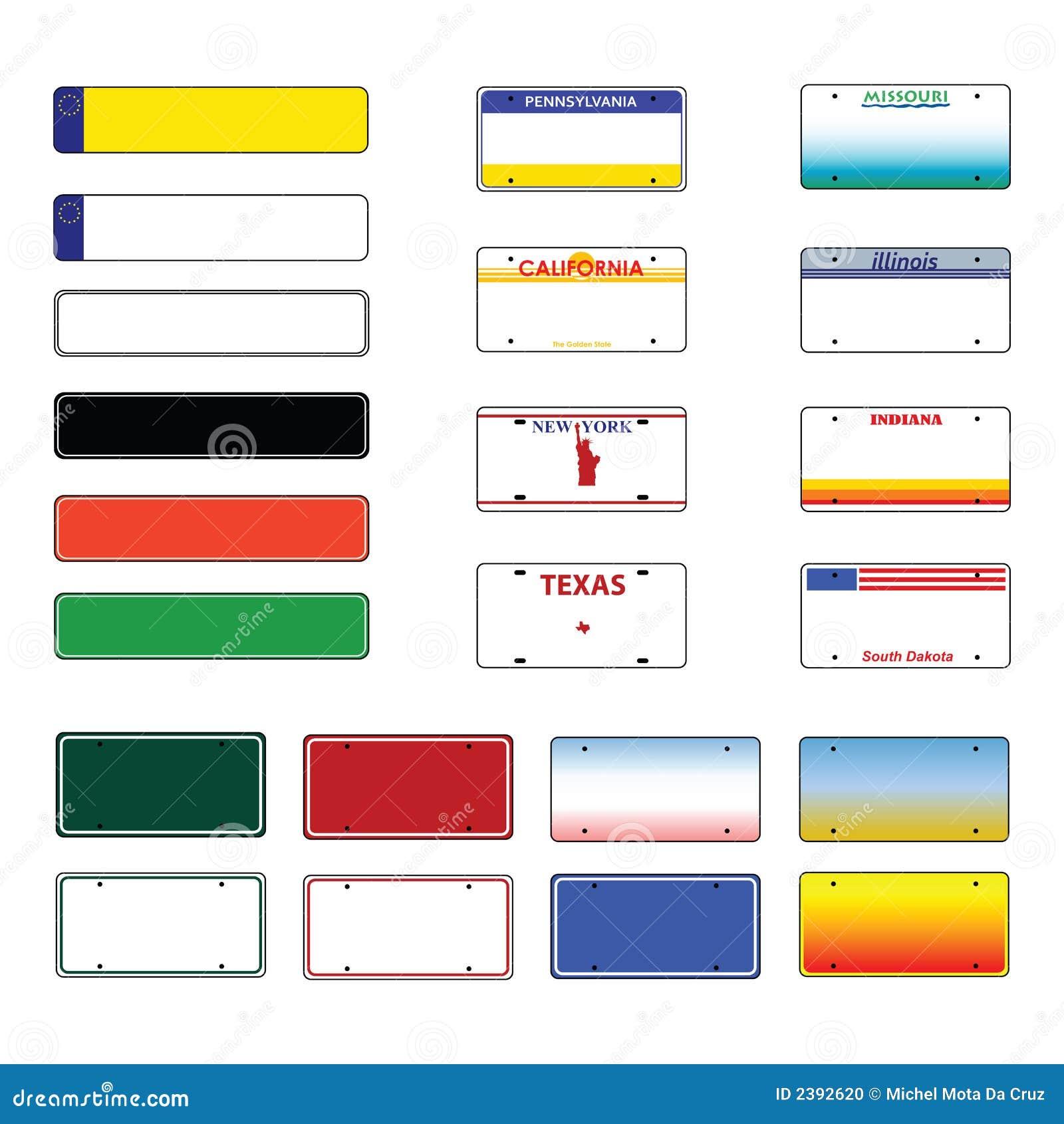 Vector de las matrículas ilustración del vector. Ilustración de ...