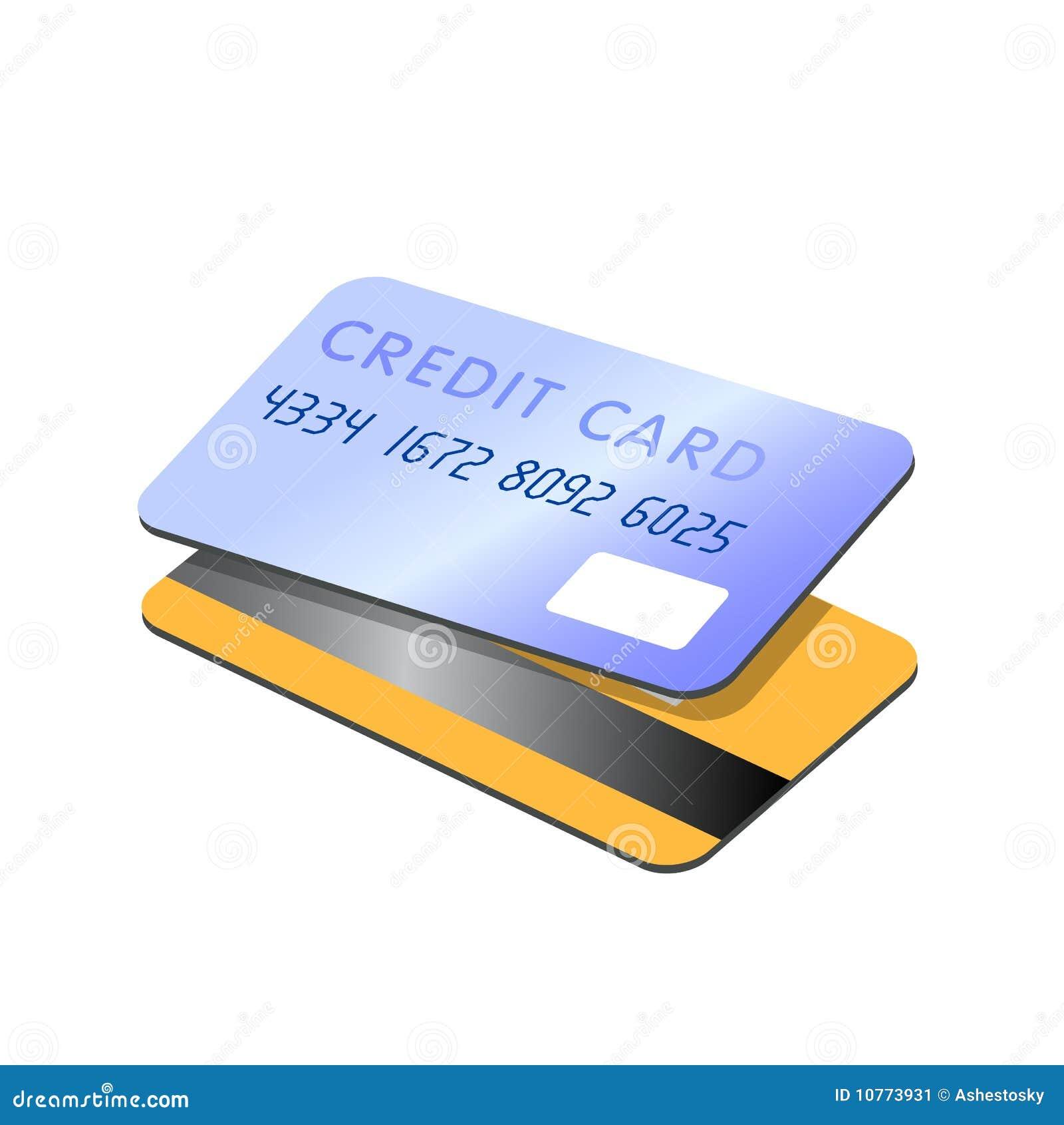 Vector de las tarjetas de crédito