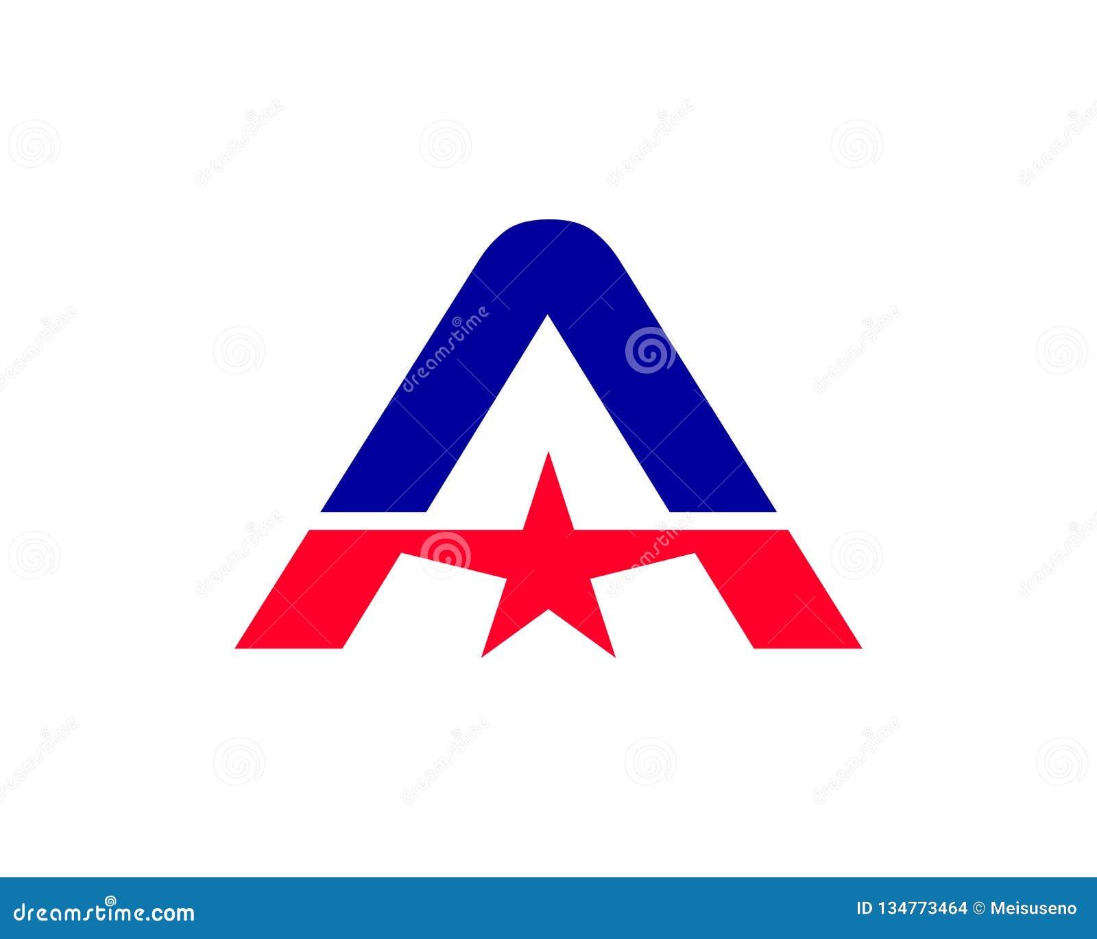 Vector de Logo Icon Design Template Elements de la estrella de la letra A