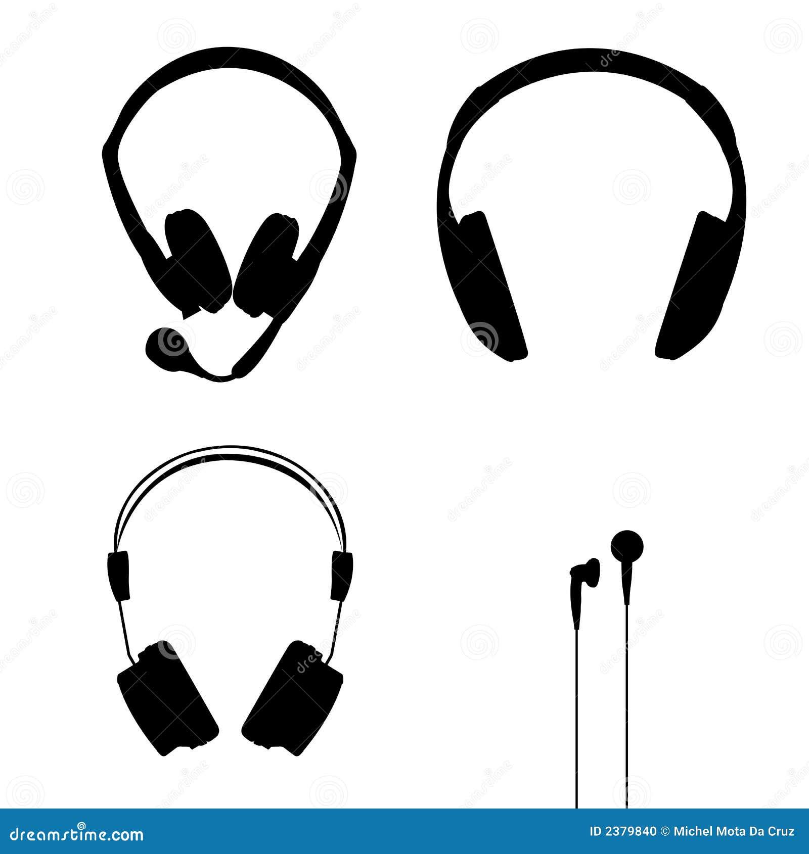 Vector de los auriculares