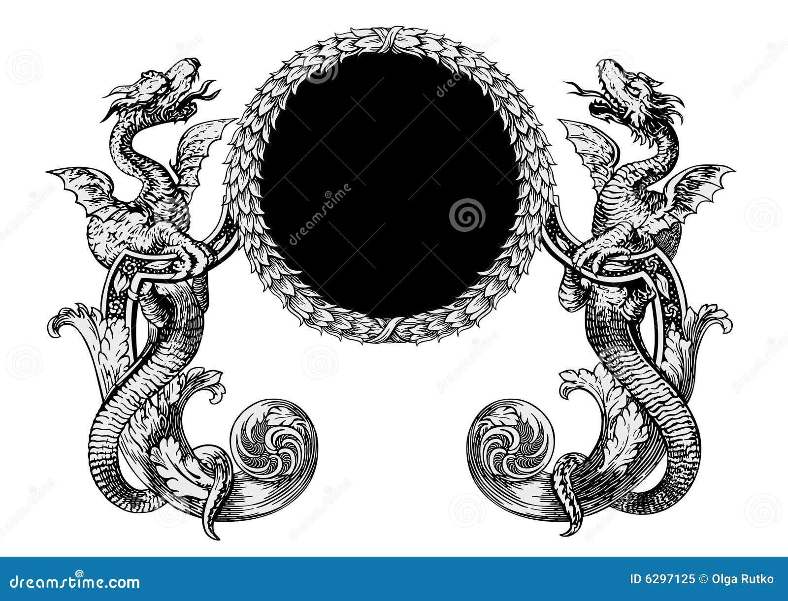 Vector de los dragones ilustración del vector. Ilustración de llama ...