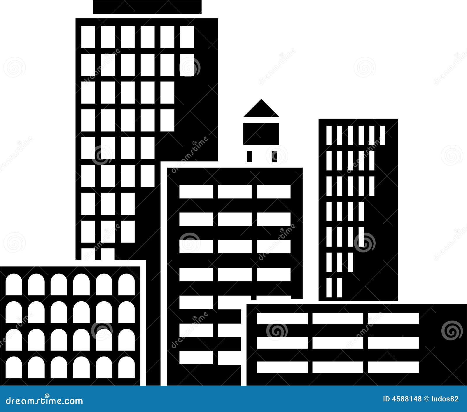 vector de los edificios ilustraci243n del vector