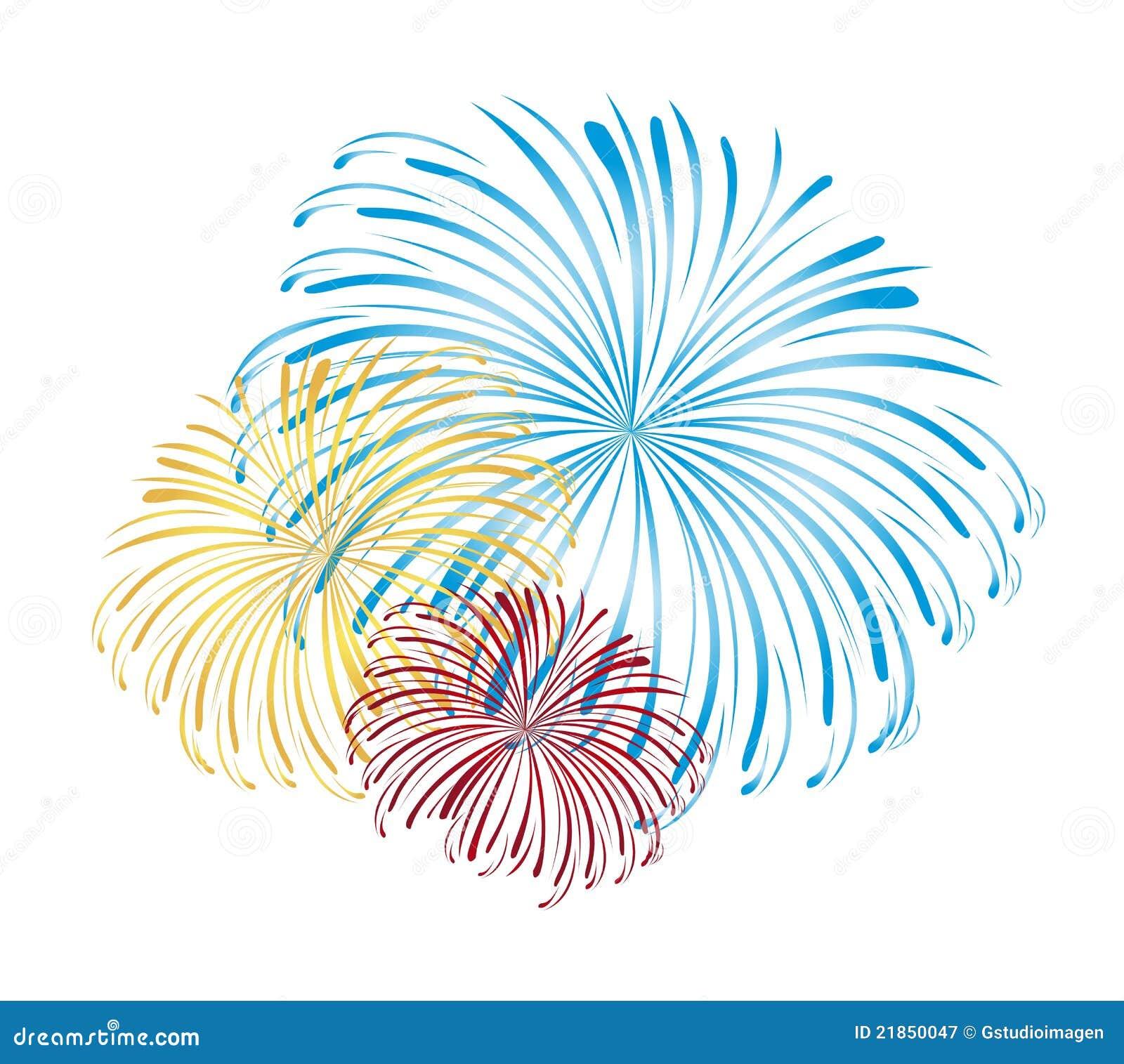 Vector De Los Fuegos Artificiales Ilustracion Del Vector