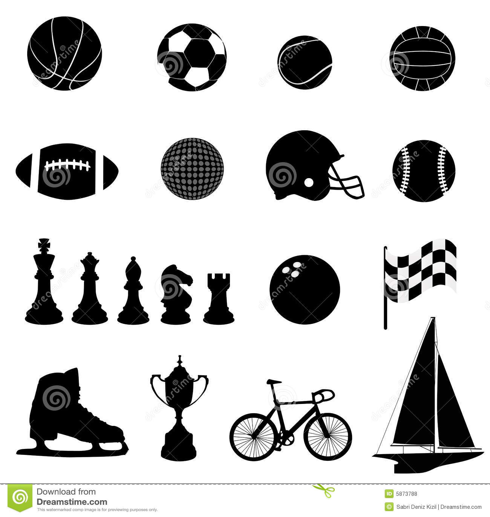 Vector de los iconos del deporte