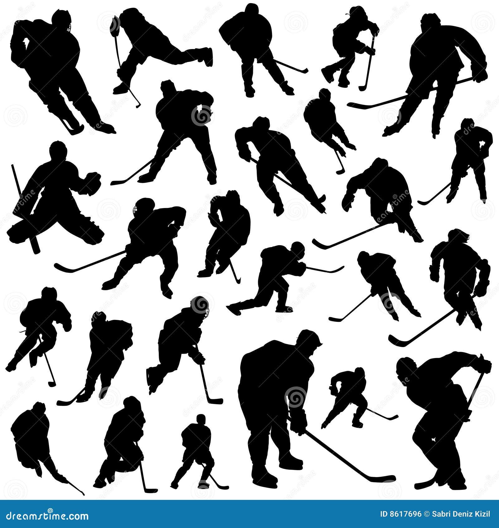 Vector de los jugadores de hockey