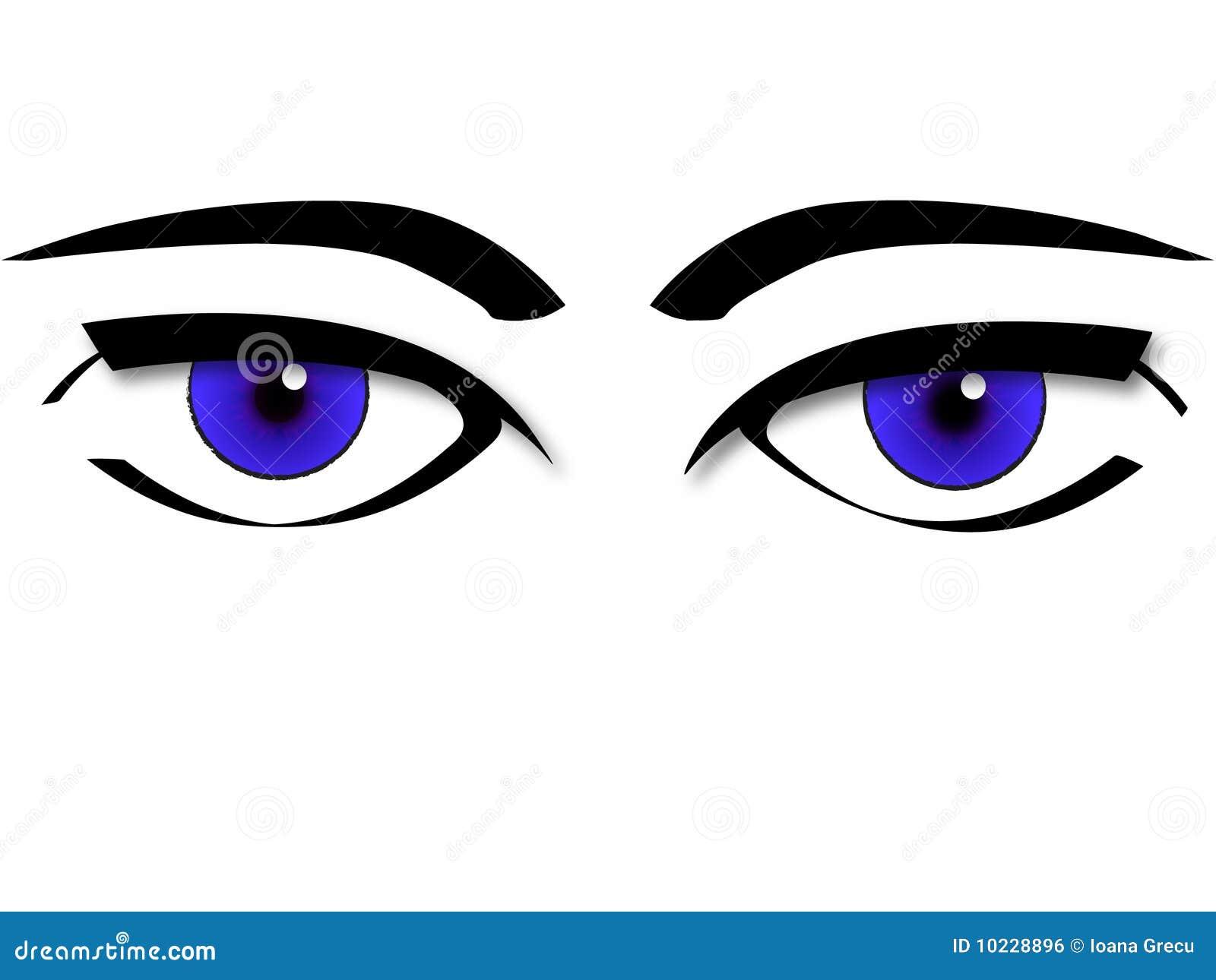 Vector de los ojos