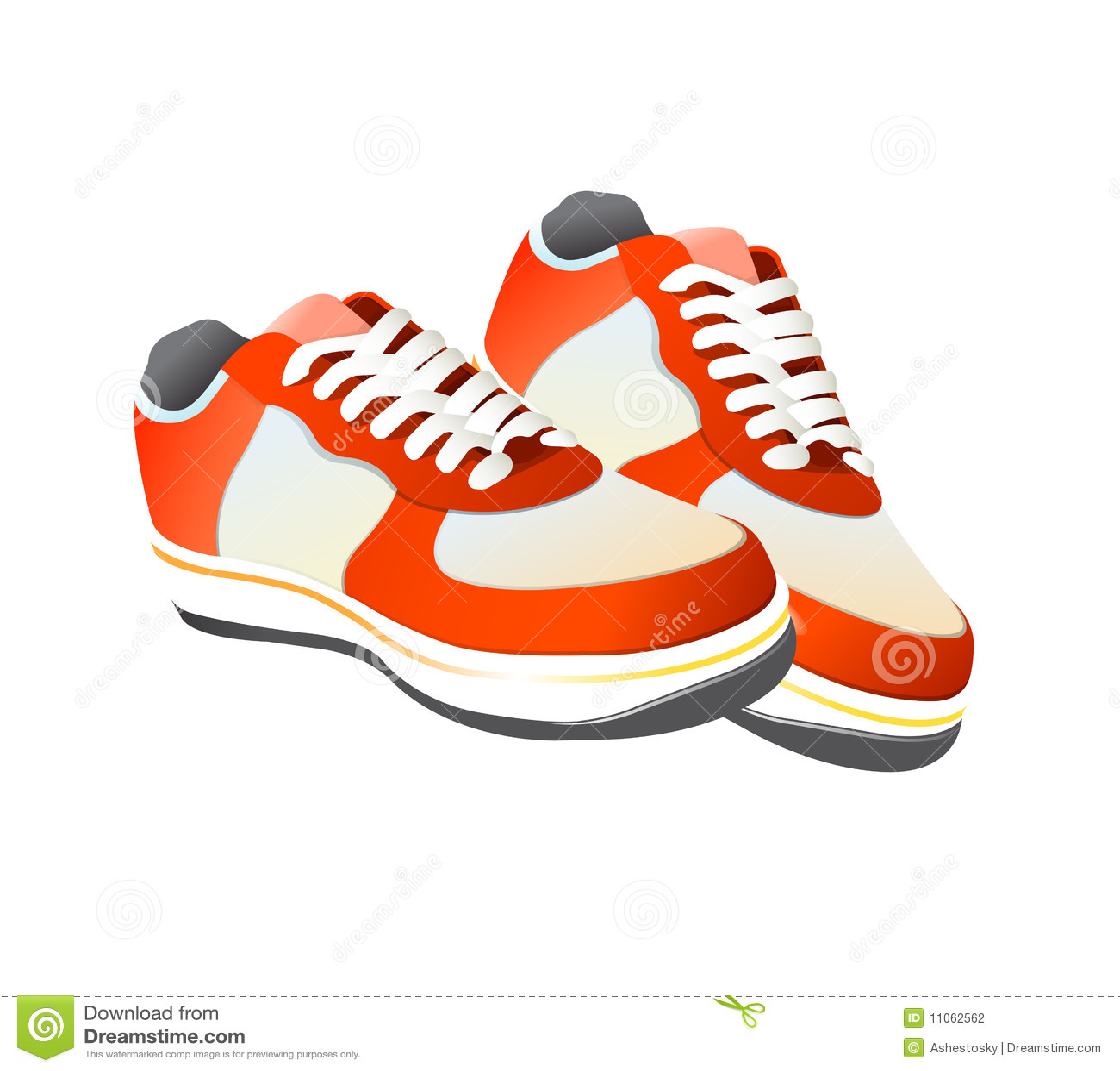 Vector de los zapatos de gimnasia del tenis