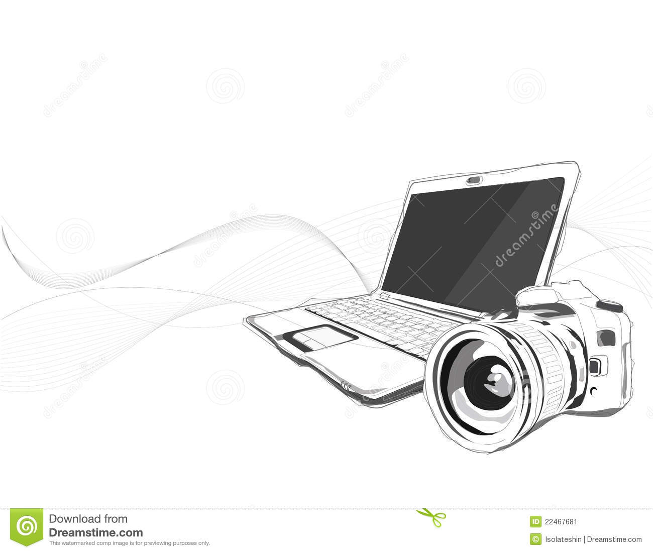 Vector de Notebook&Camera