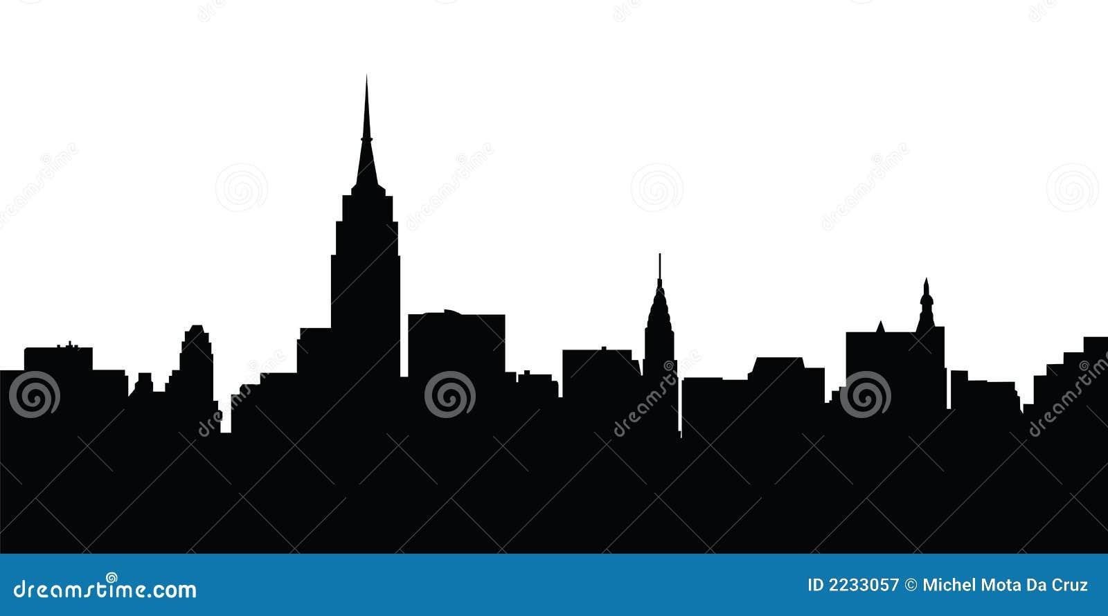 Vector de Nueva York del horizonte de la ciudad