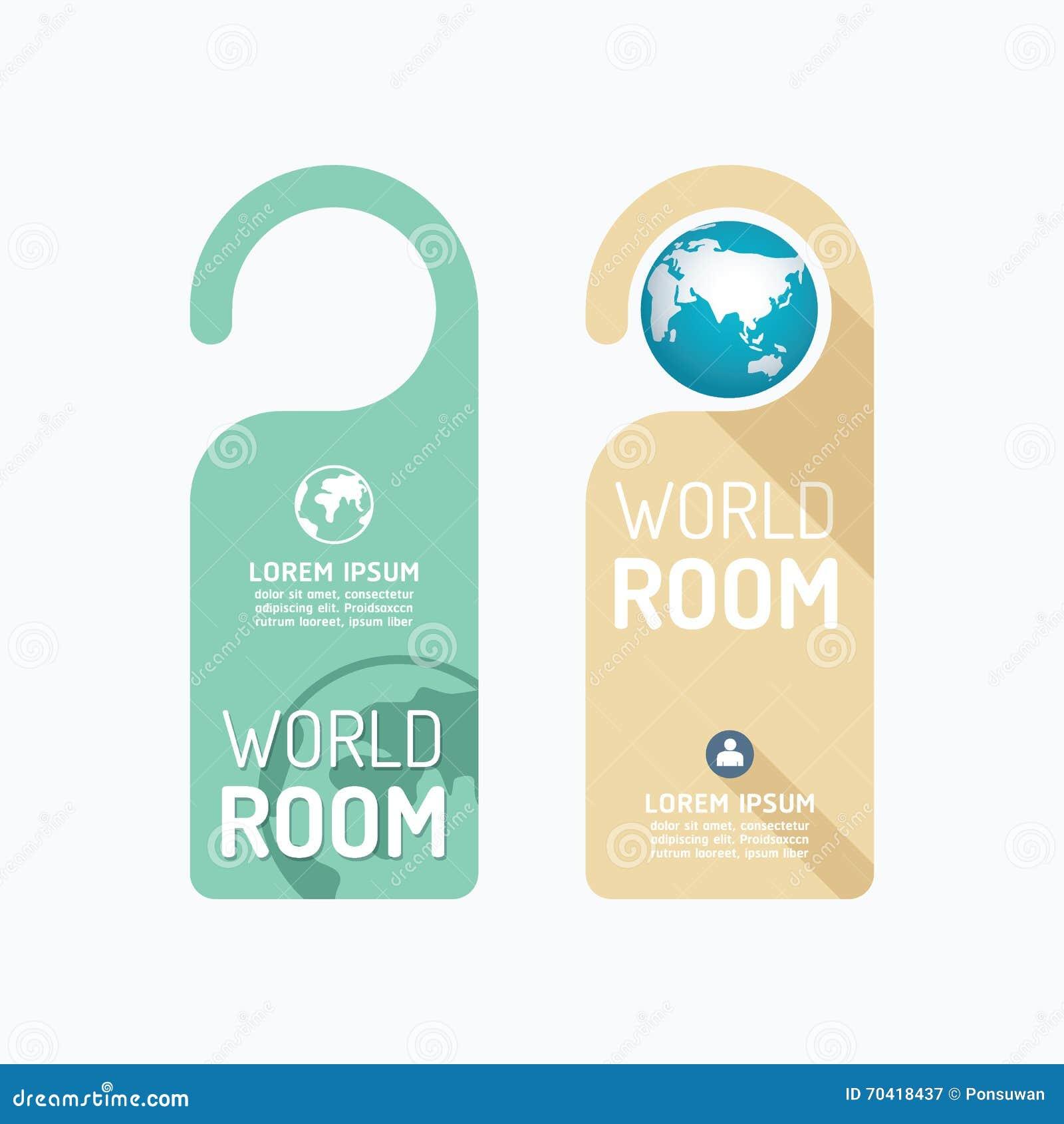 Vector de papel de la bandera del sitio del mundo del concepto de las suspensiones de la cerradura del tirador de puerta