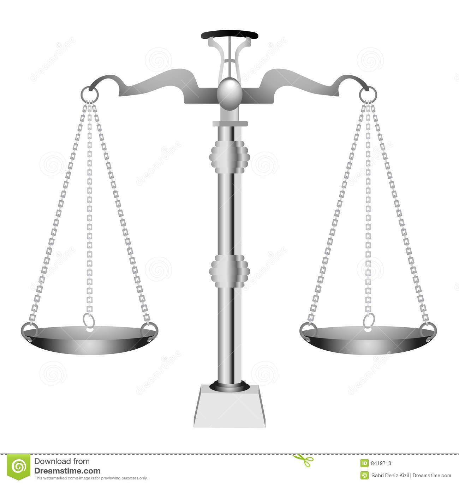 Vector de plata de la escala