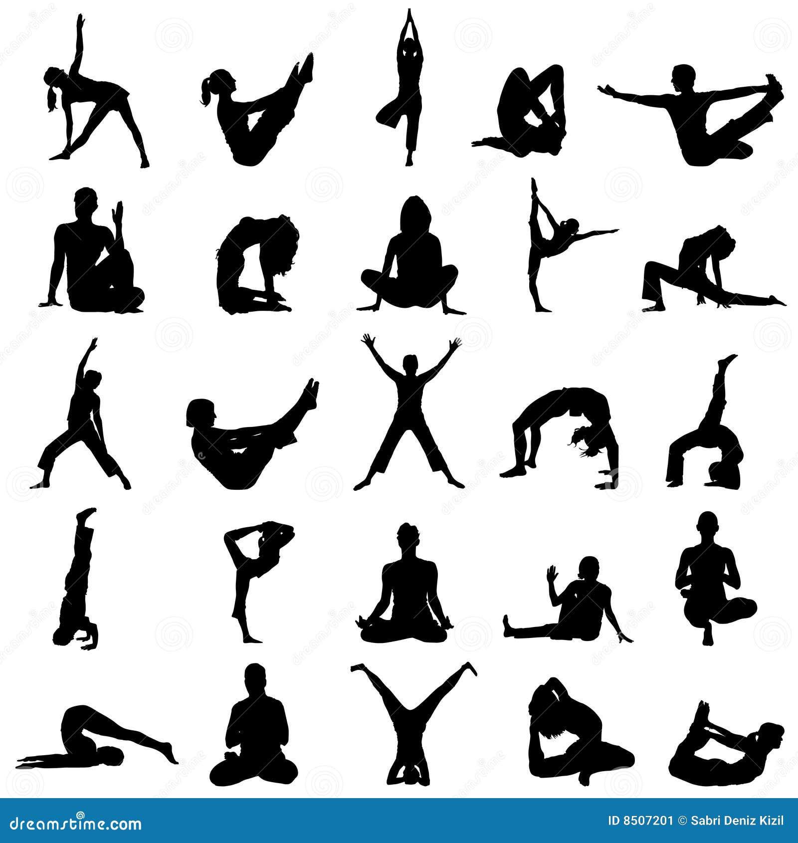Vector de posiciones de la yoga