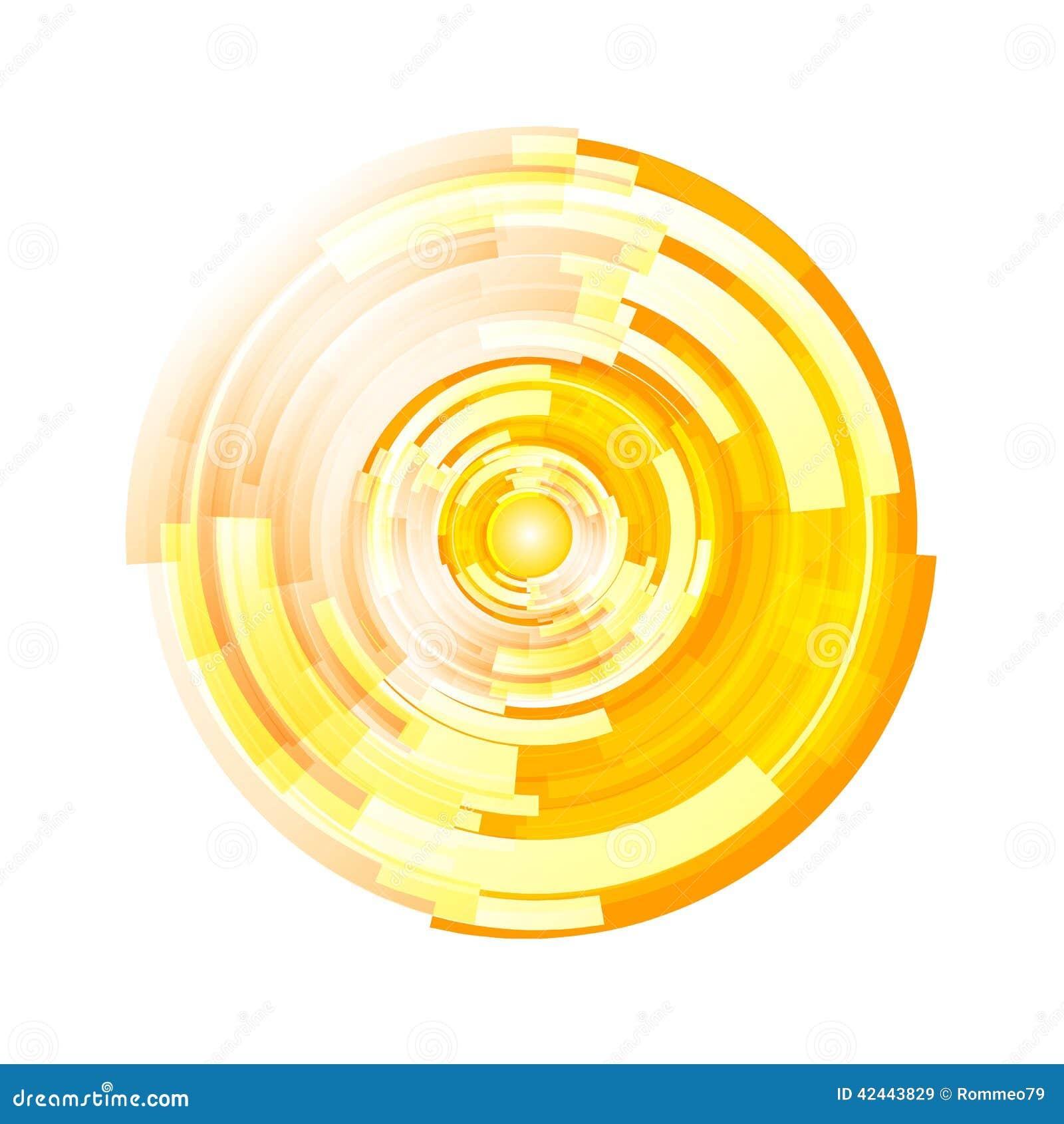 Vector de semitono abstracto del fondo del círculo