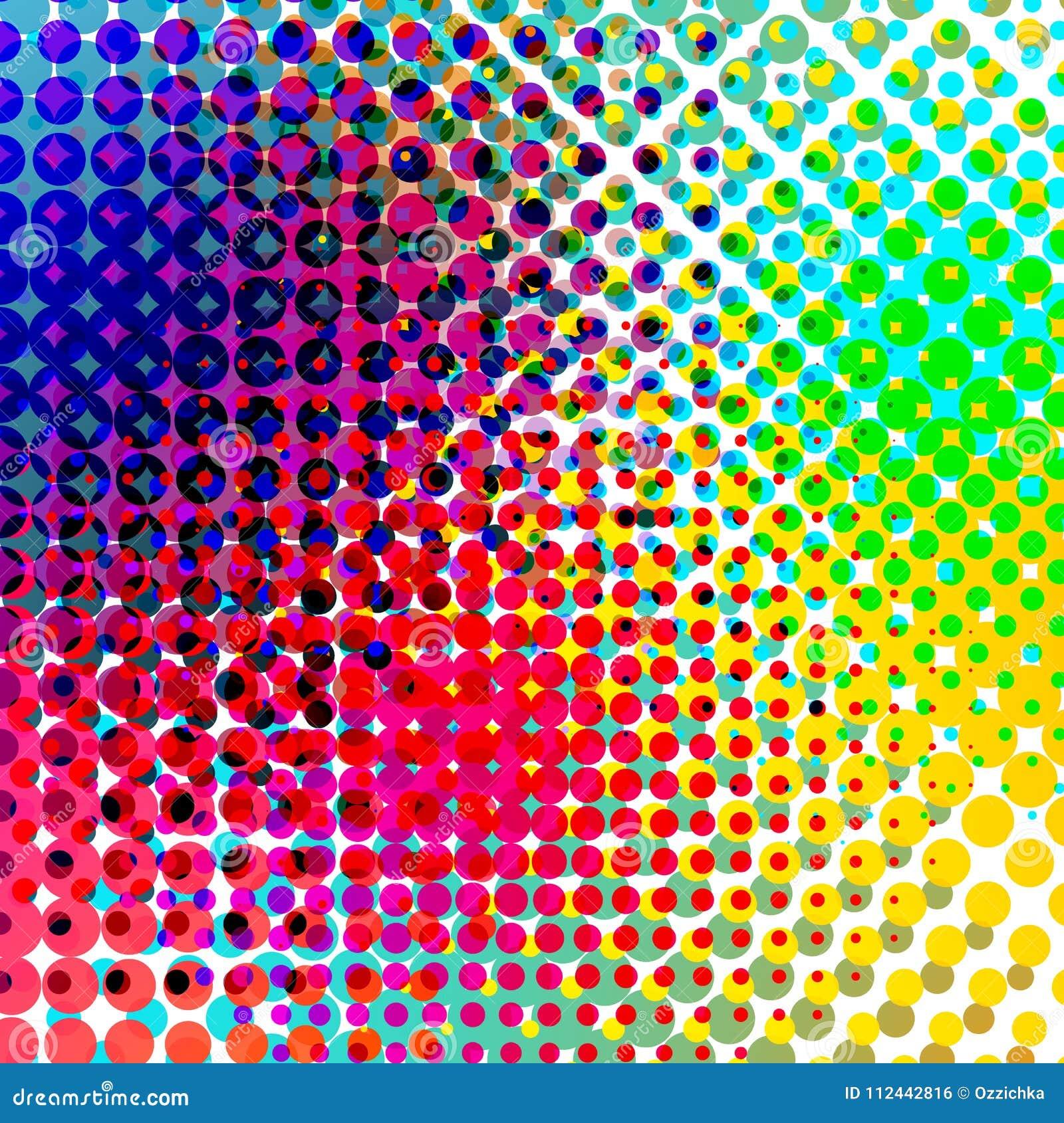 Vector de semitono colorido de la pendiente del fondo Backround abstracto con los elementos de semitono coloridos Geomeric retro