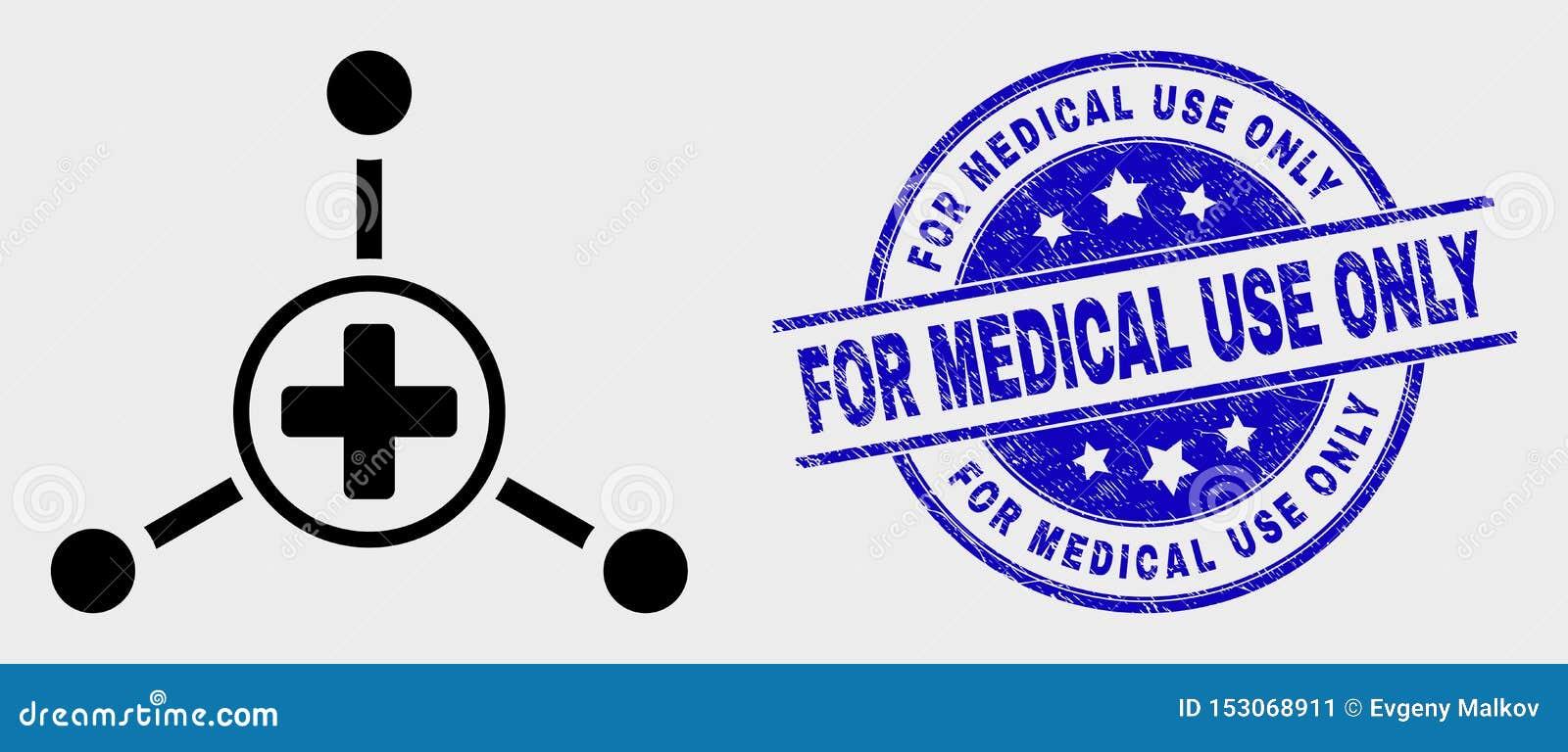 Vector de Verbindingenpictogram van het Slag Medische Centrum en Gekrast voor Medische Gebruiks slechts Verbinding