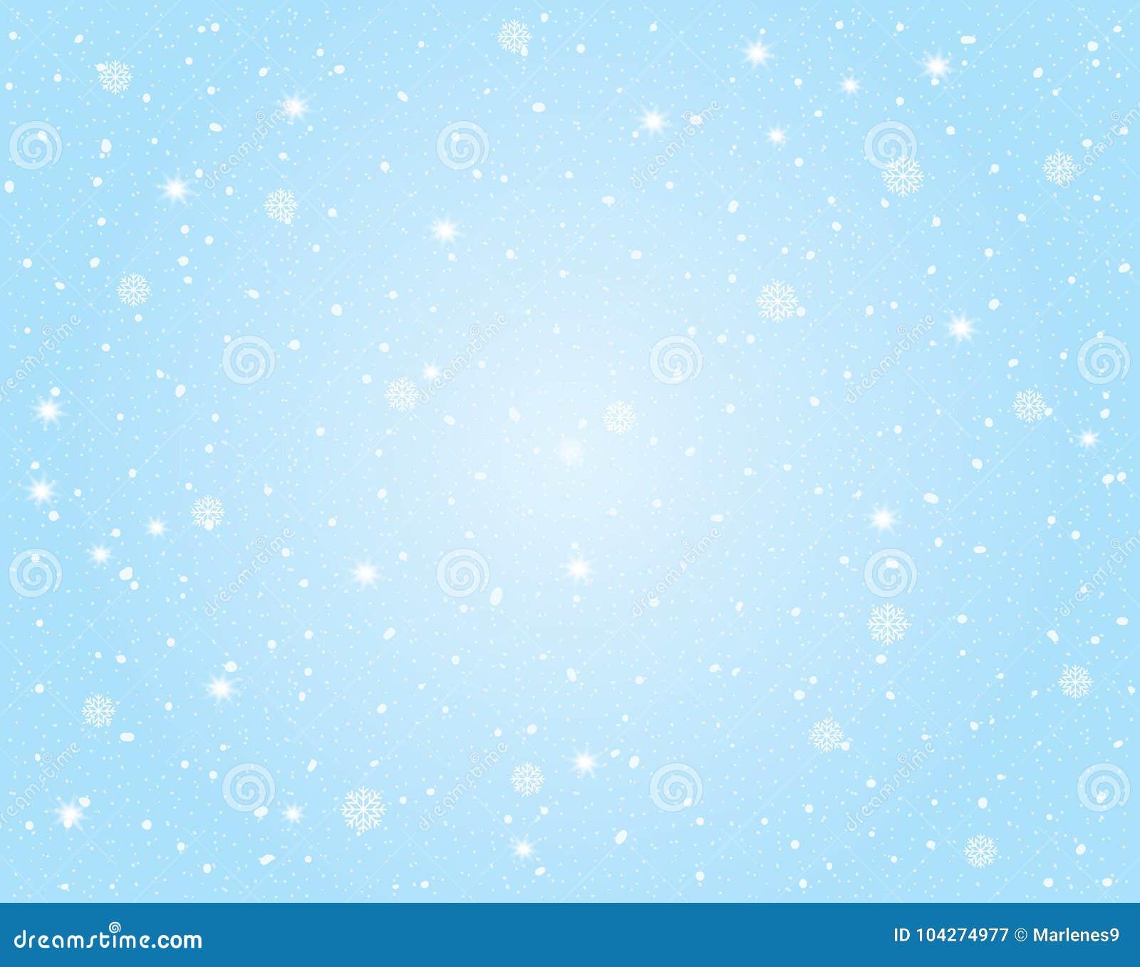 Vector de Winterlandschap met Hemel en Sneeuwachtergrond