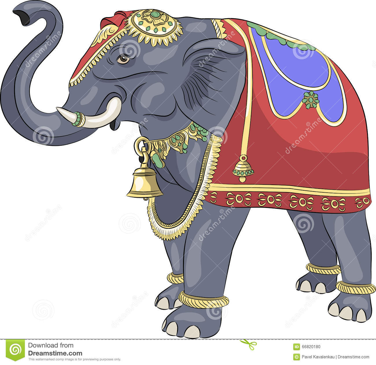 Vector. Decorated Indian Elephant. Stock Vector ...