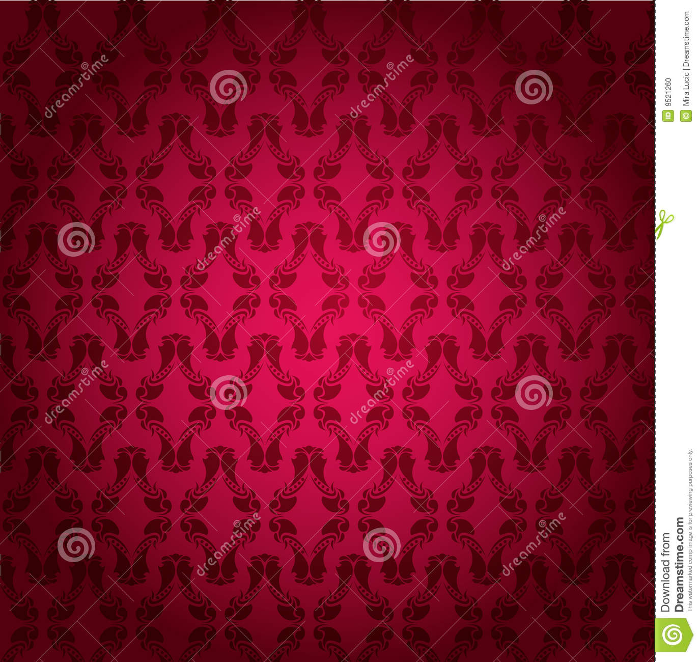Vector Decorated Wall Stock Photo - Image: 9521260