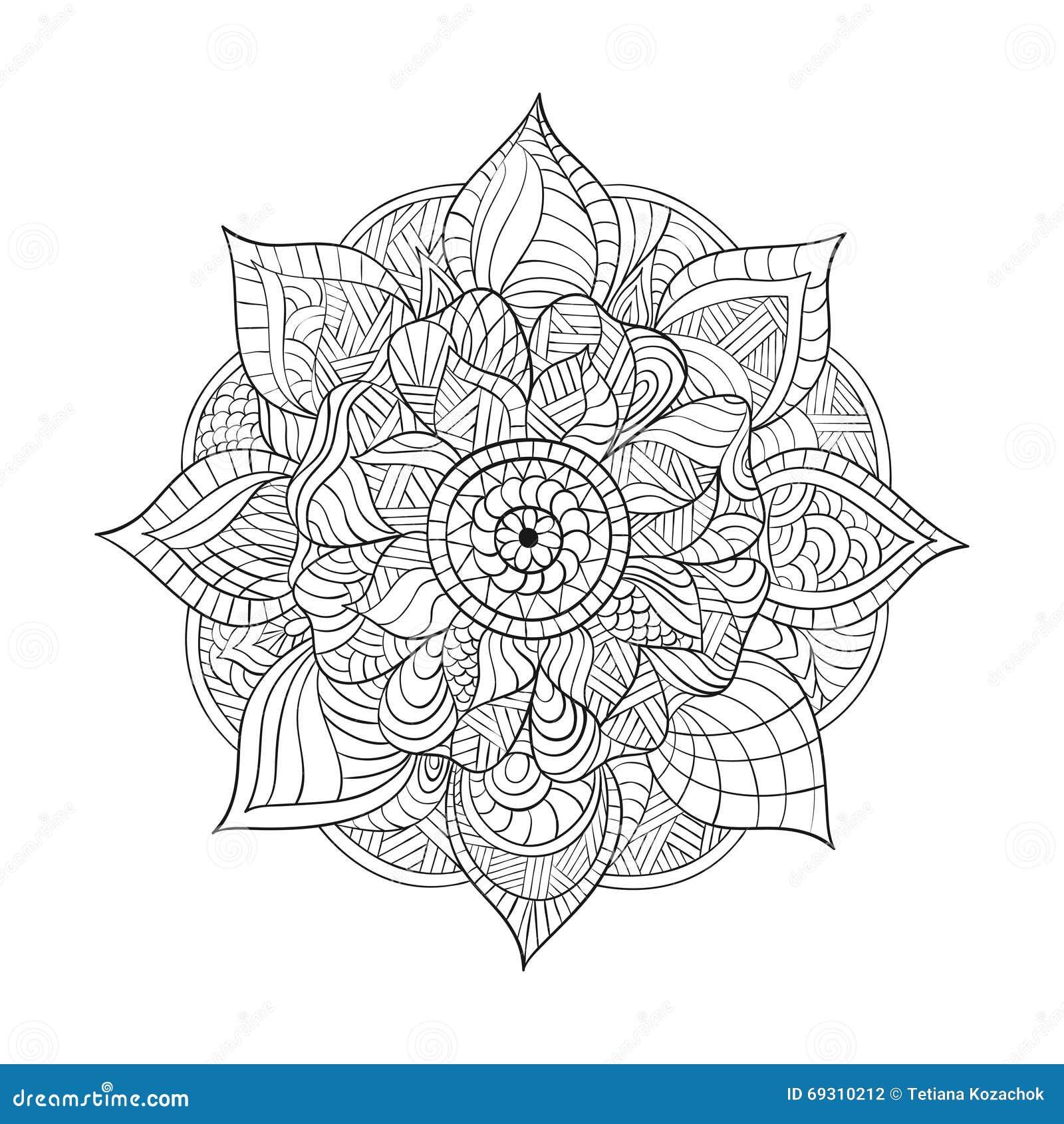 Beste Vector Decoratieve Mandala Voor Volwassenen Die Boeken Kleuren PU-89