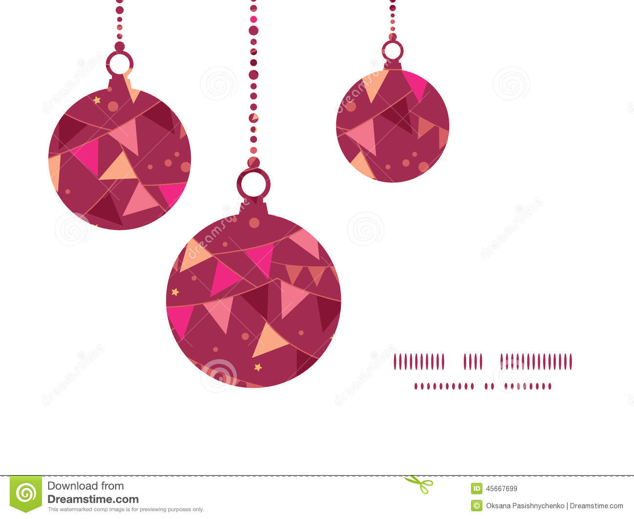 ... Christmas ornaments silhouettes pattern frame card template graphic
