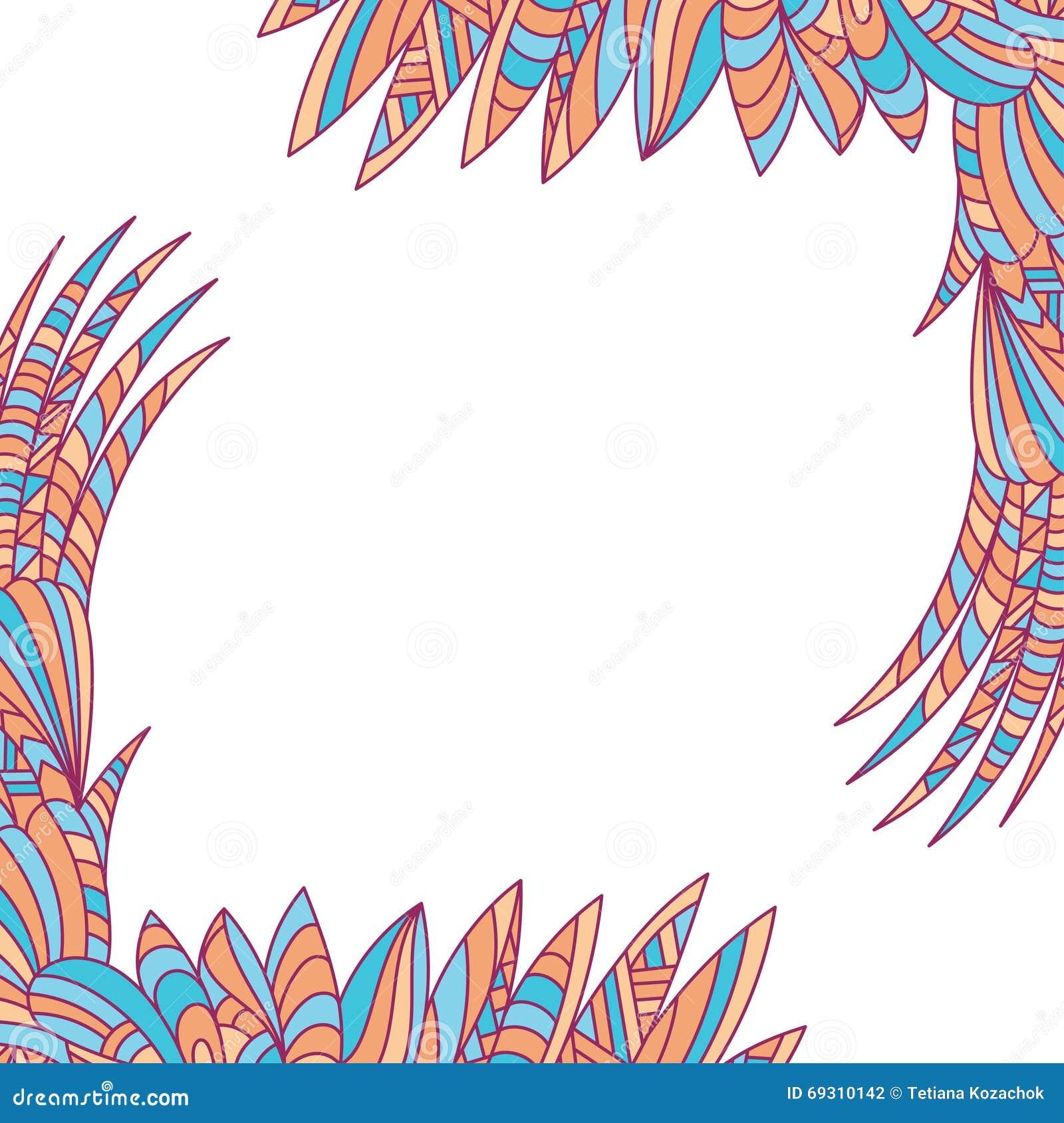 Vector Decorative Element Border Abstract Invitation Card