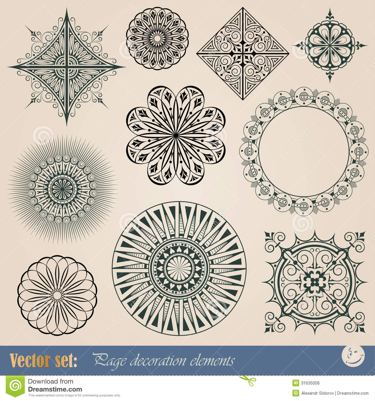 Vector decorative elements royalty free stock image for Decoration elements