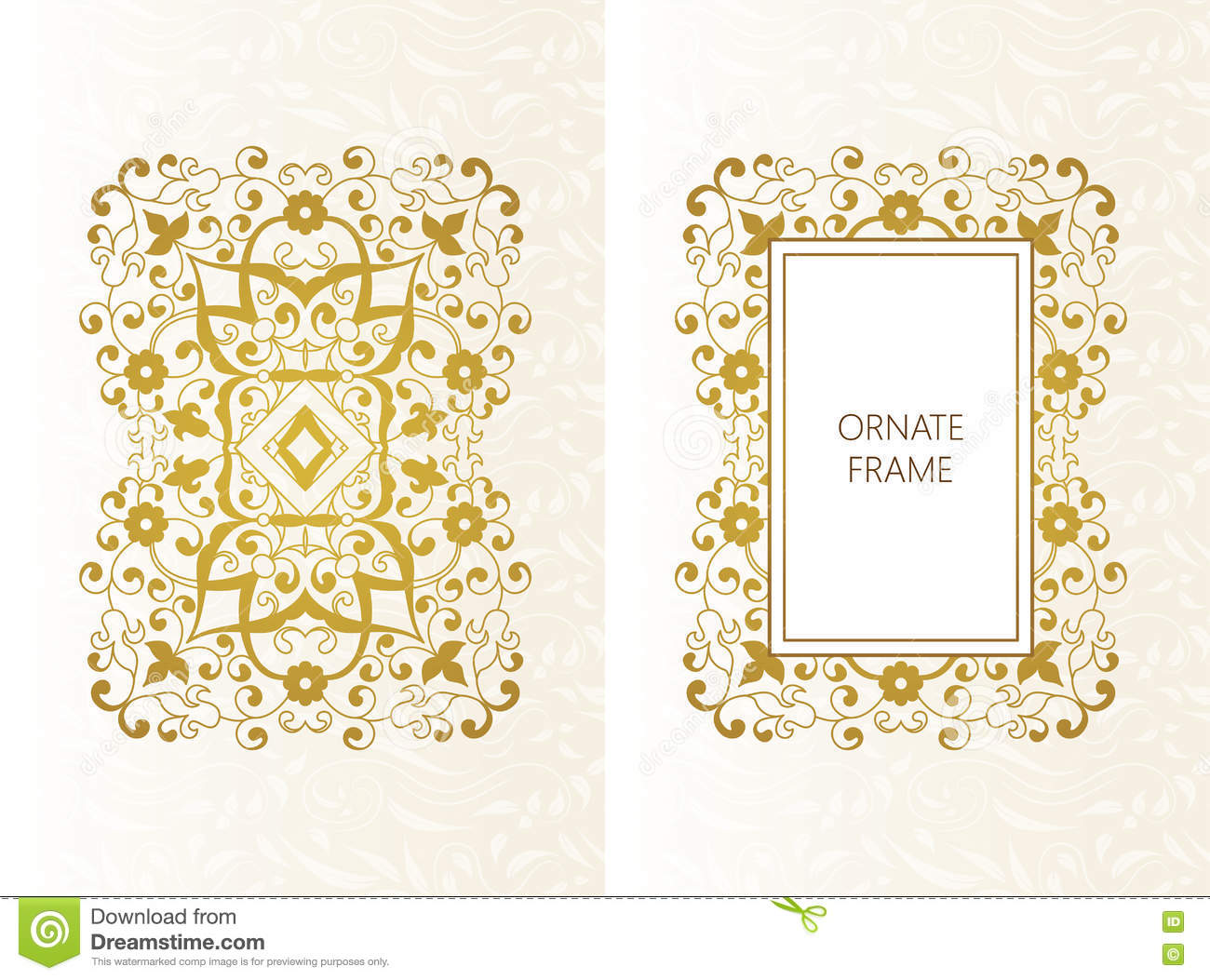 Vector decorative frame elegant element for design for Cadre floral mural