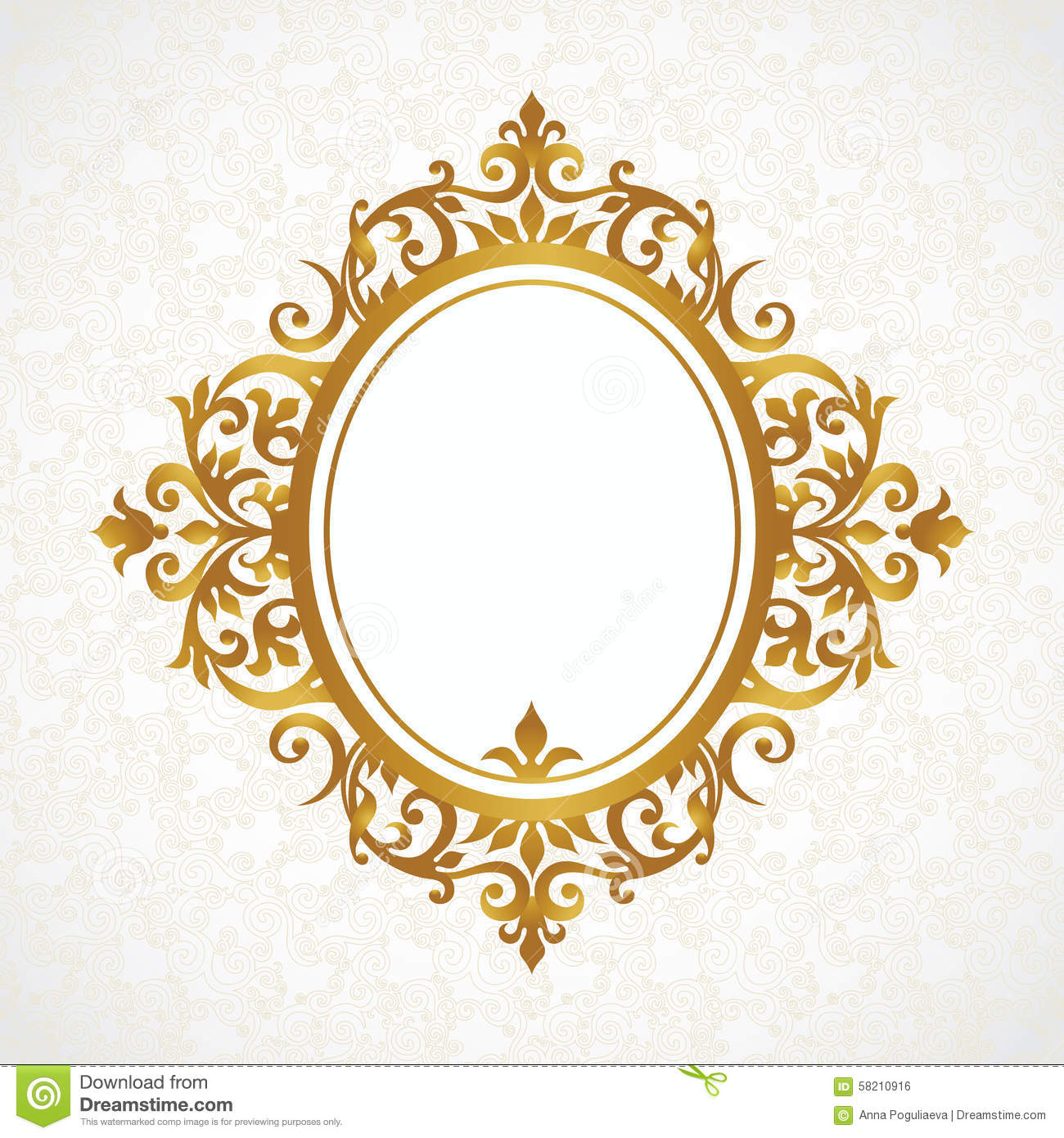 Vector decorative frame in victorian style stock vector vector decorative frame in victorian style arabesque baroque junglespirit Images
