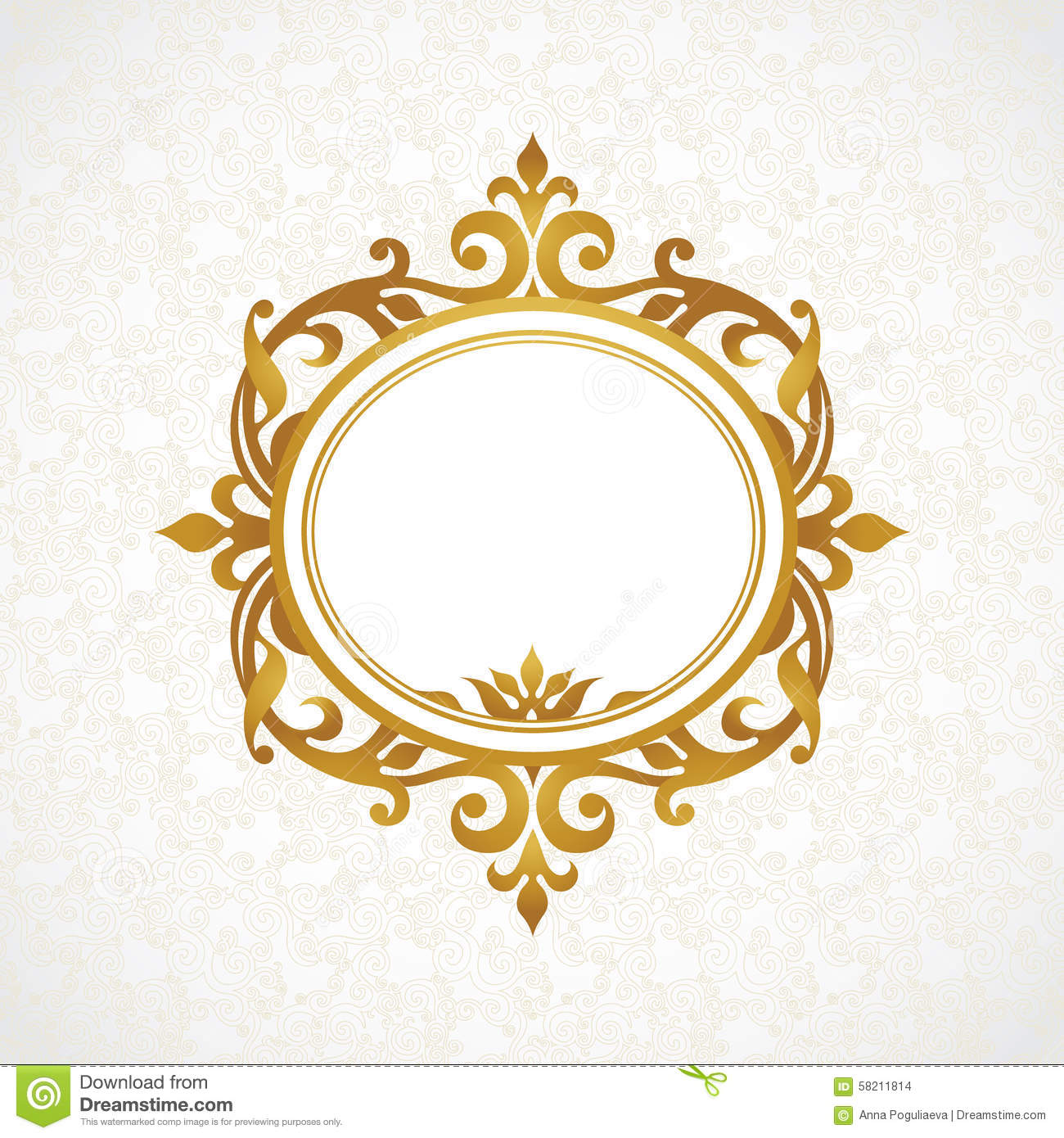 Vector Decorative Frame In Victorian Style Stock Vector