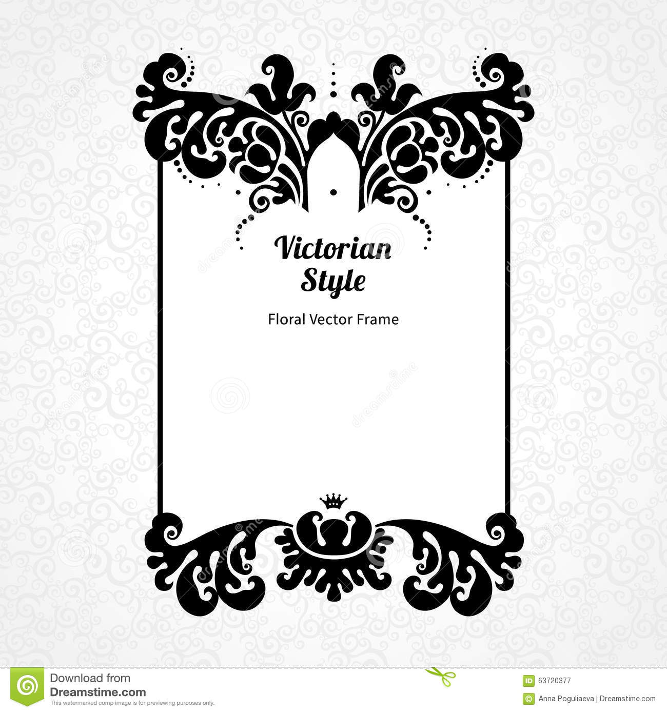 Vector Decorative Frame In Victorian Style. Stock Vector ...