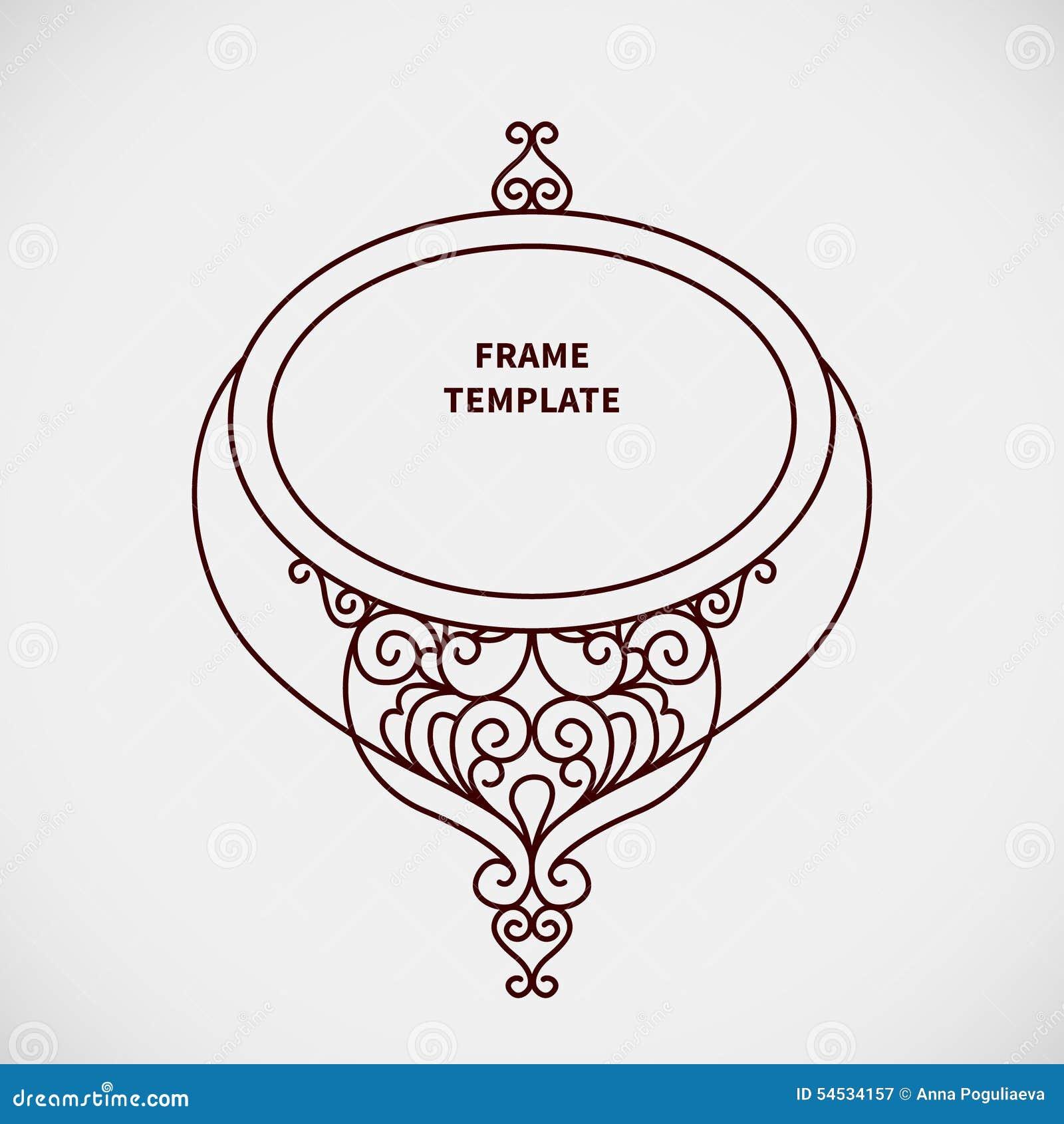 Vector Decorative Line Art Frame For Design Template. Stock Vector ...