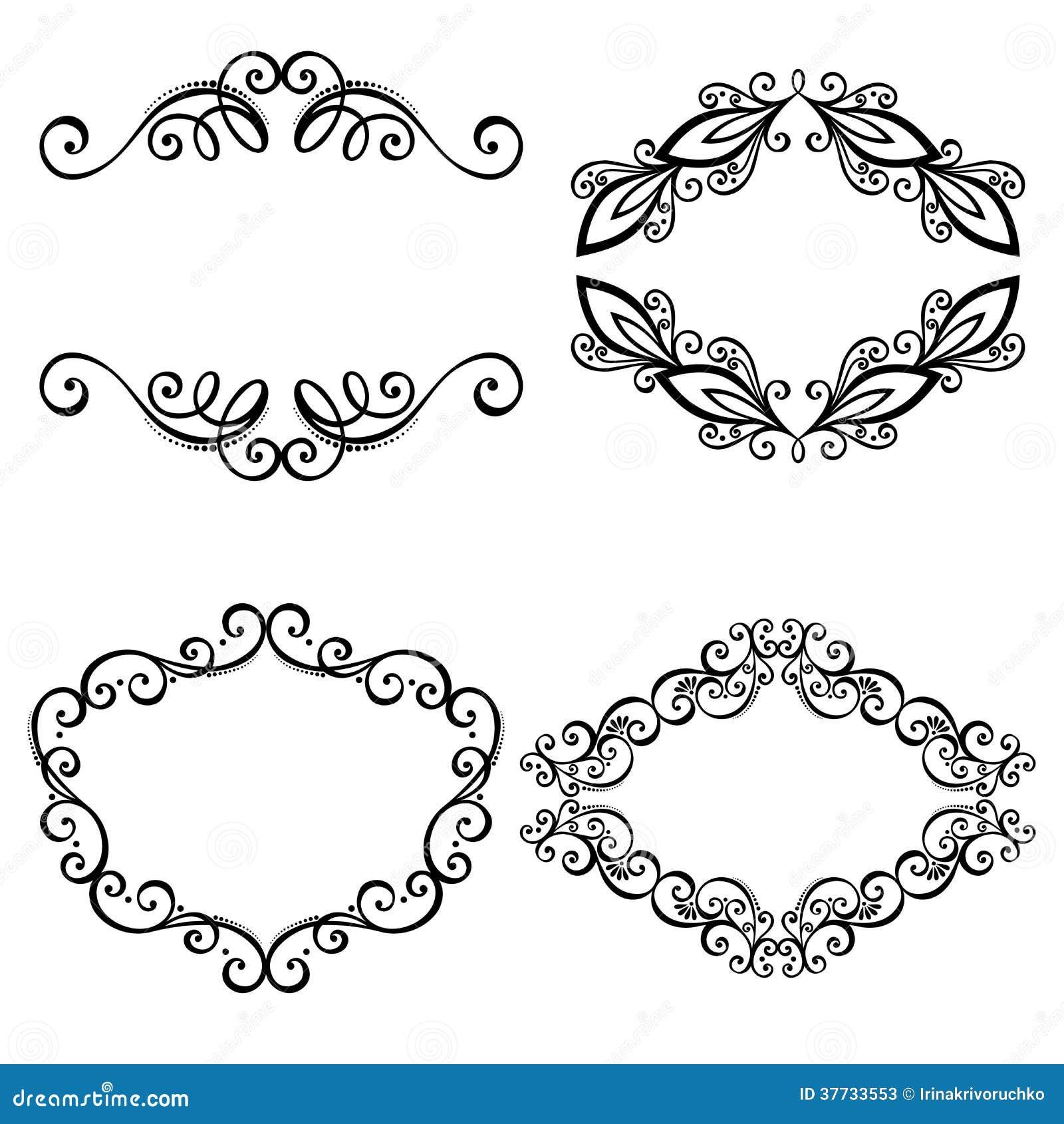 Vector Decorative Ornamental Frame For Text Stock Vector