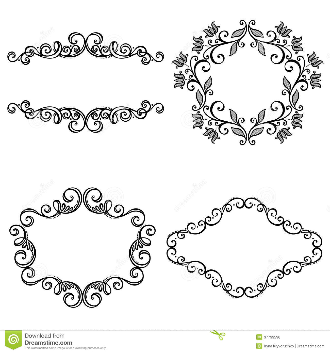 Vector Decorative Ornamental Frame For Text Royalty Free ...