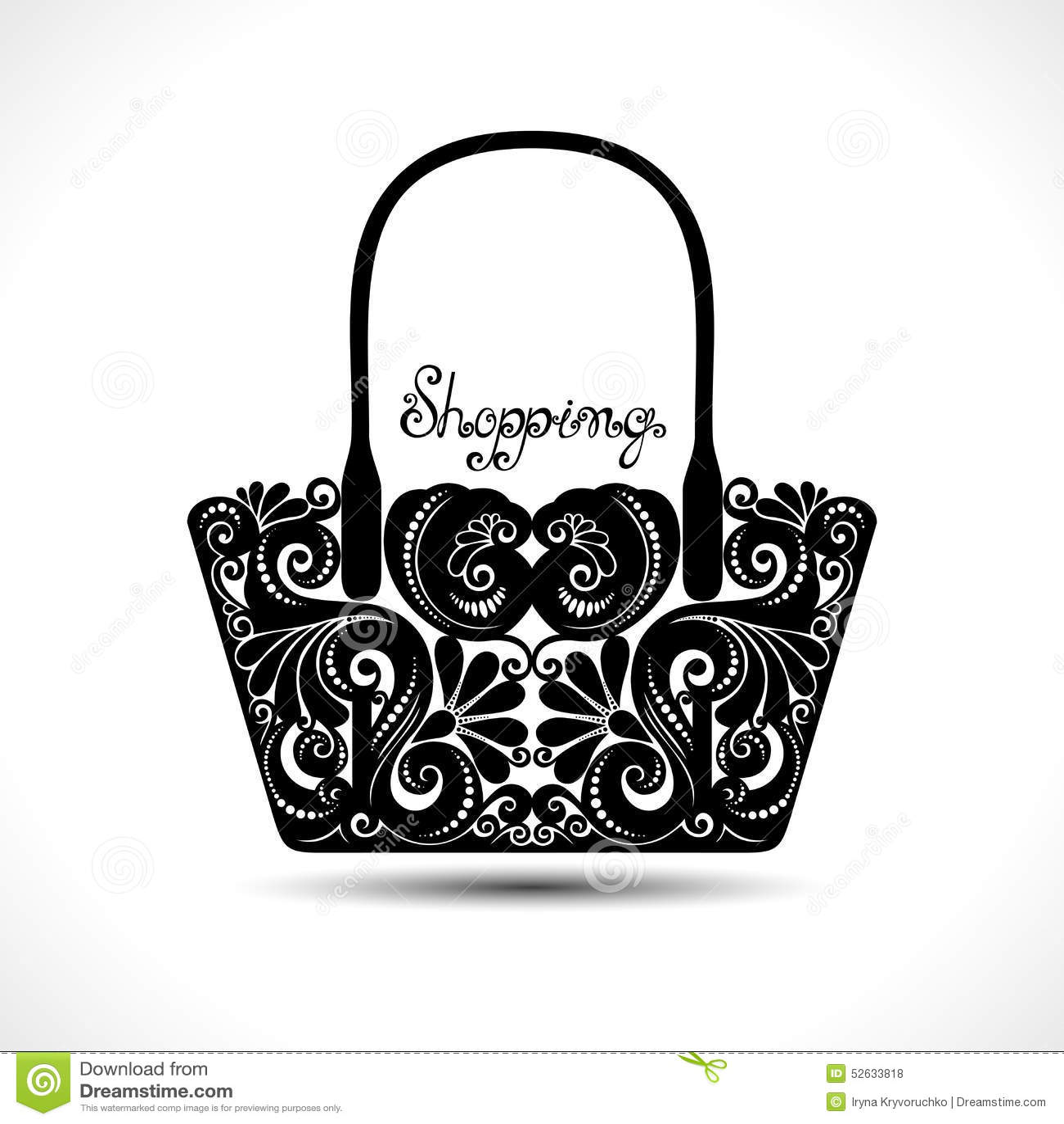 Vector Decorative Ornate Women\'s Bag Stock Vector - Illustration of ...