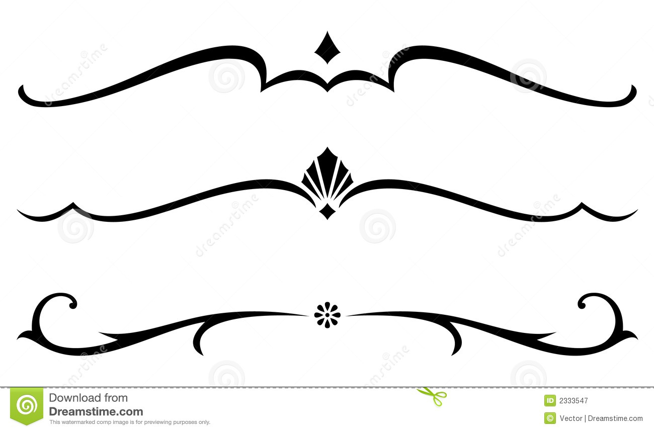 Line Art Vector : Vector decorative rules stock illustration of line