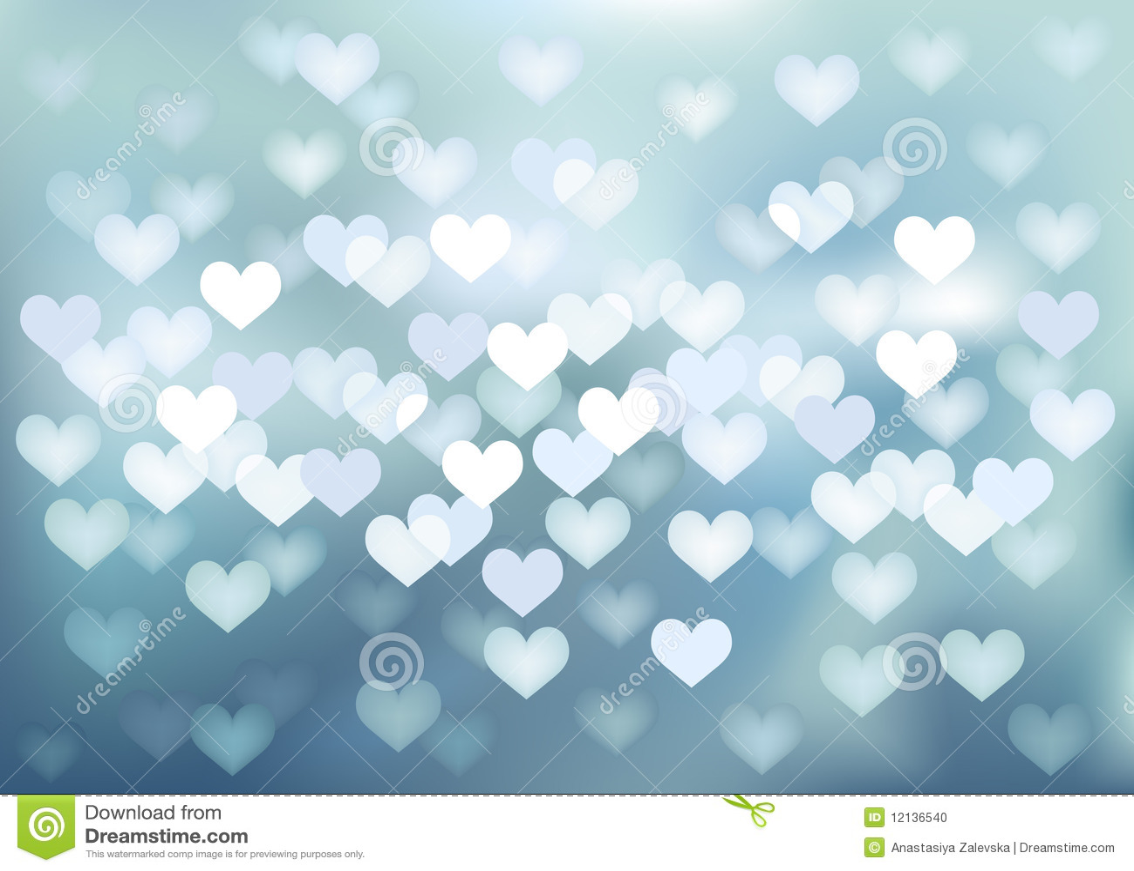 Vector Defocused Lights In Heart Shape Stock Photo Image