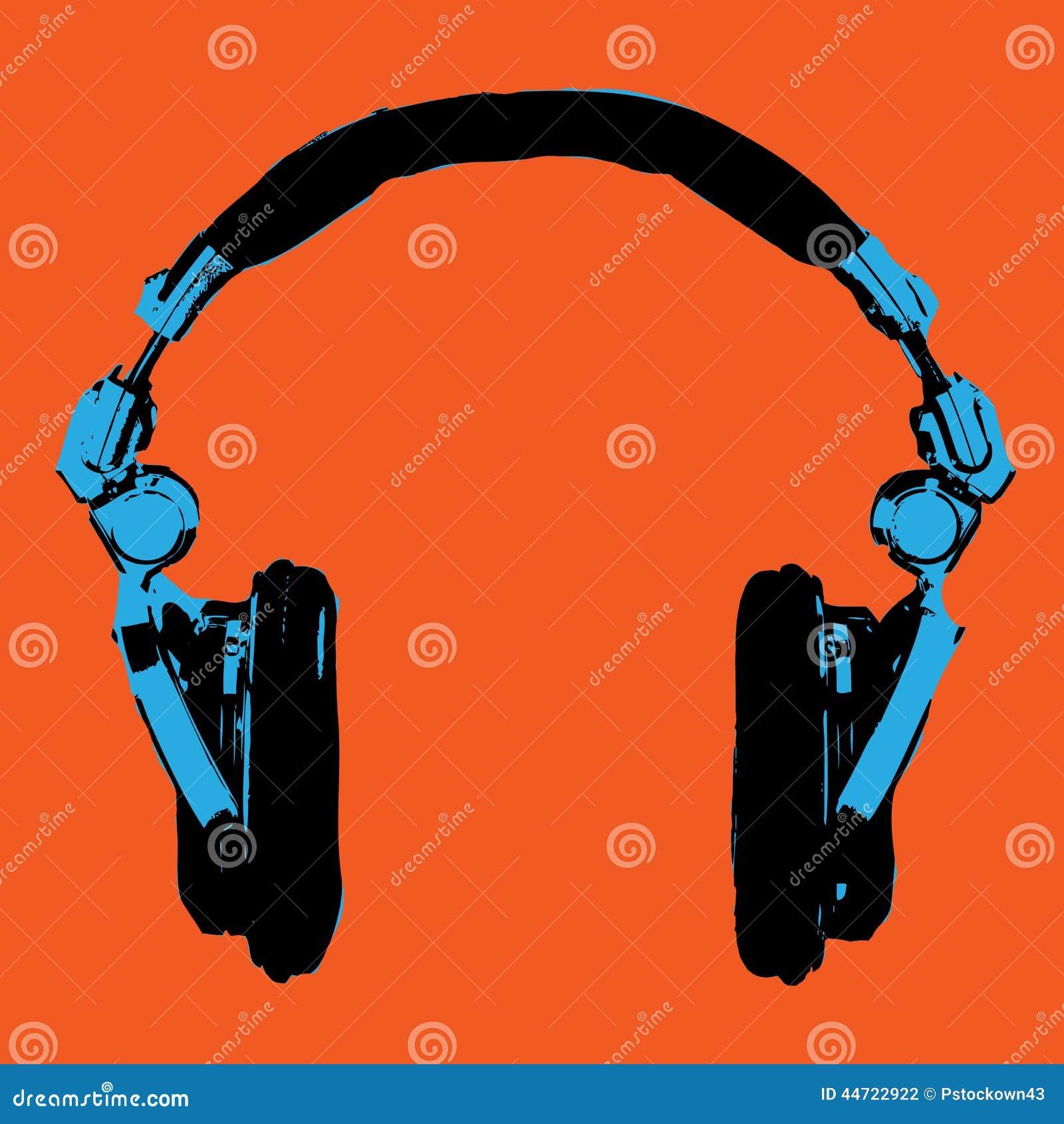 Vector del arte pop de los auriculares