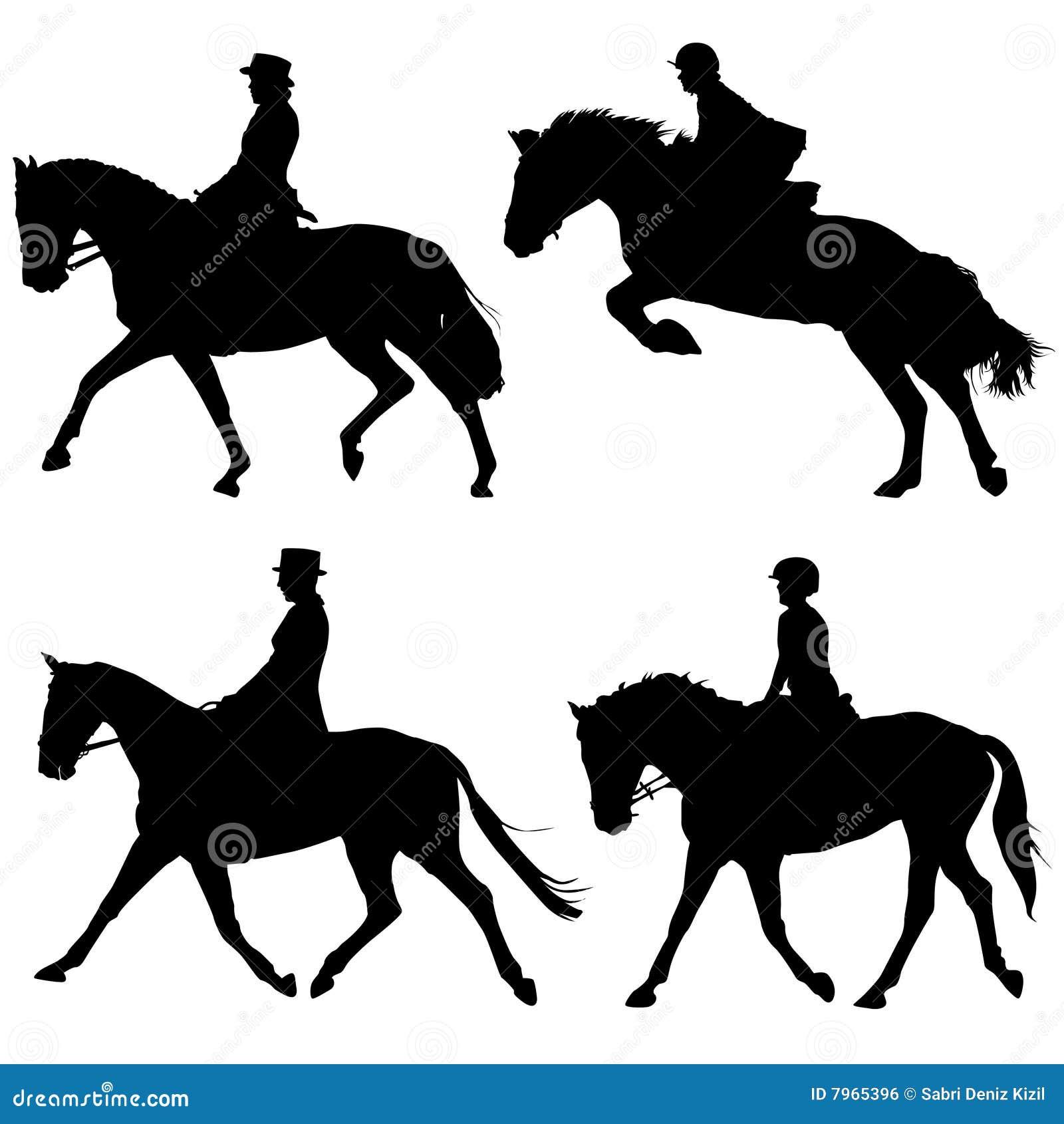 Vector del caballo y de los jinetes