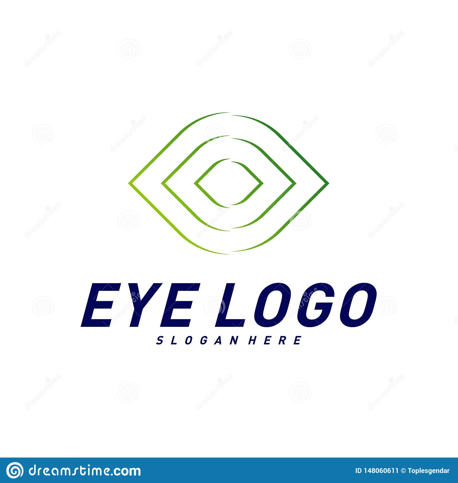Vector del concepto de dise?o del logotipo del ojo, plantilla del logotipo del ojo, s?mbolo del icono