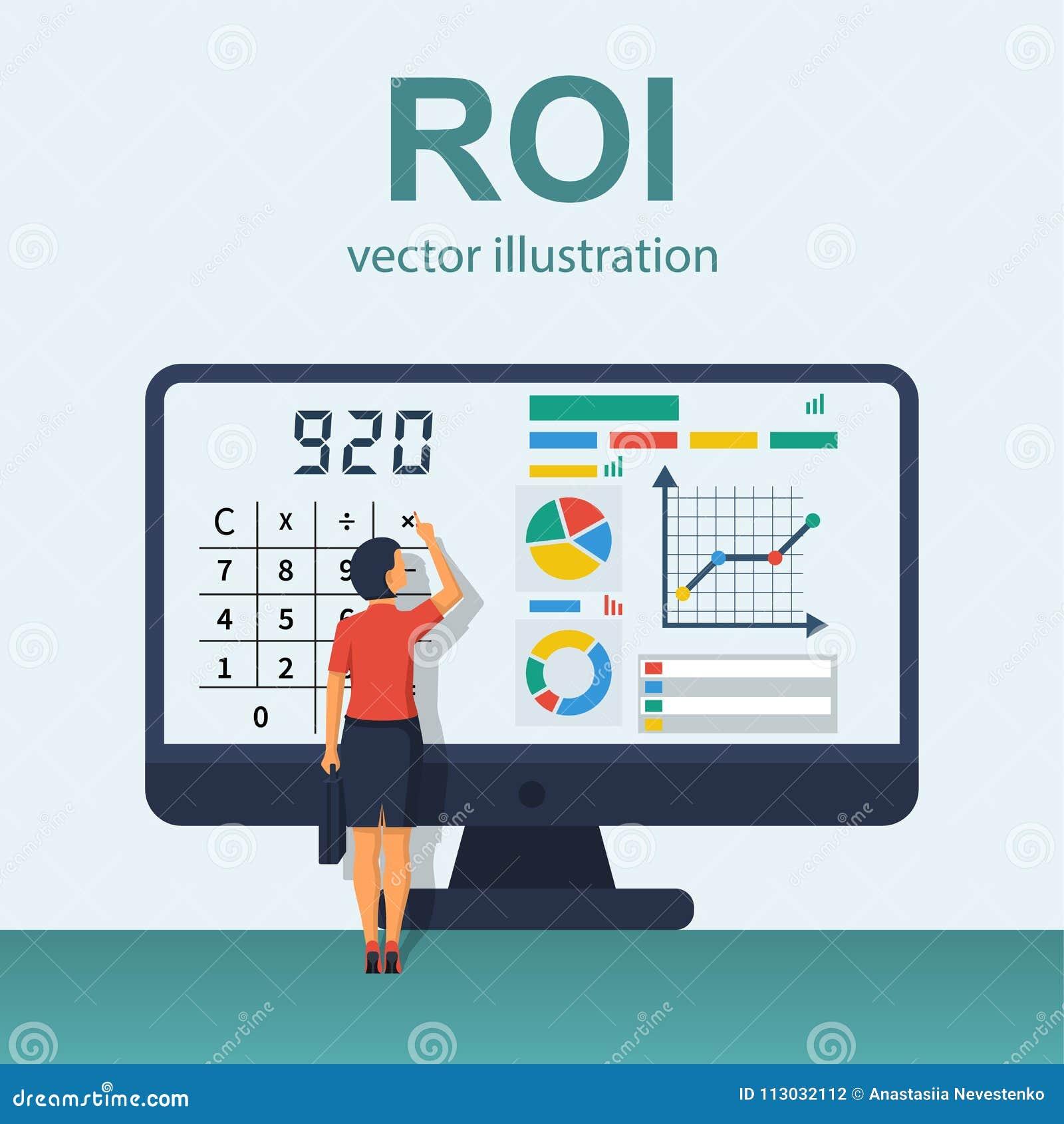 Vector del concepto del ROI