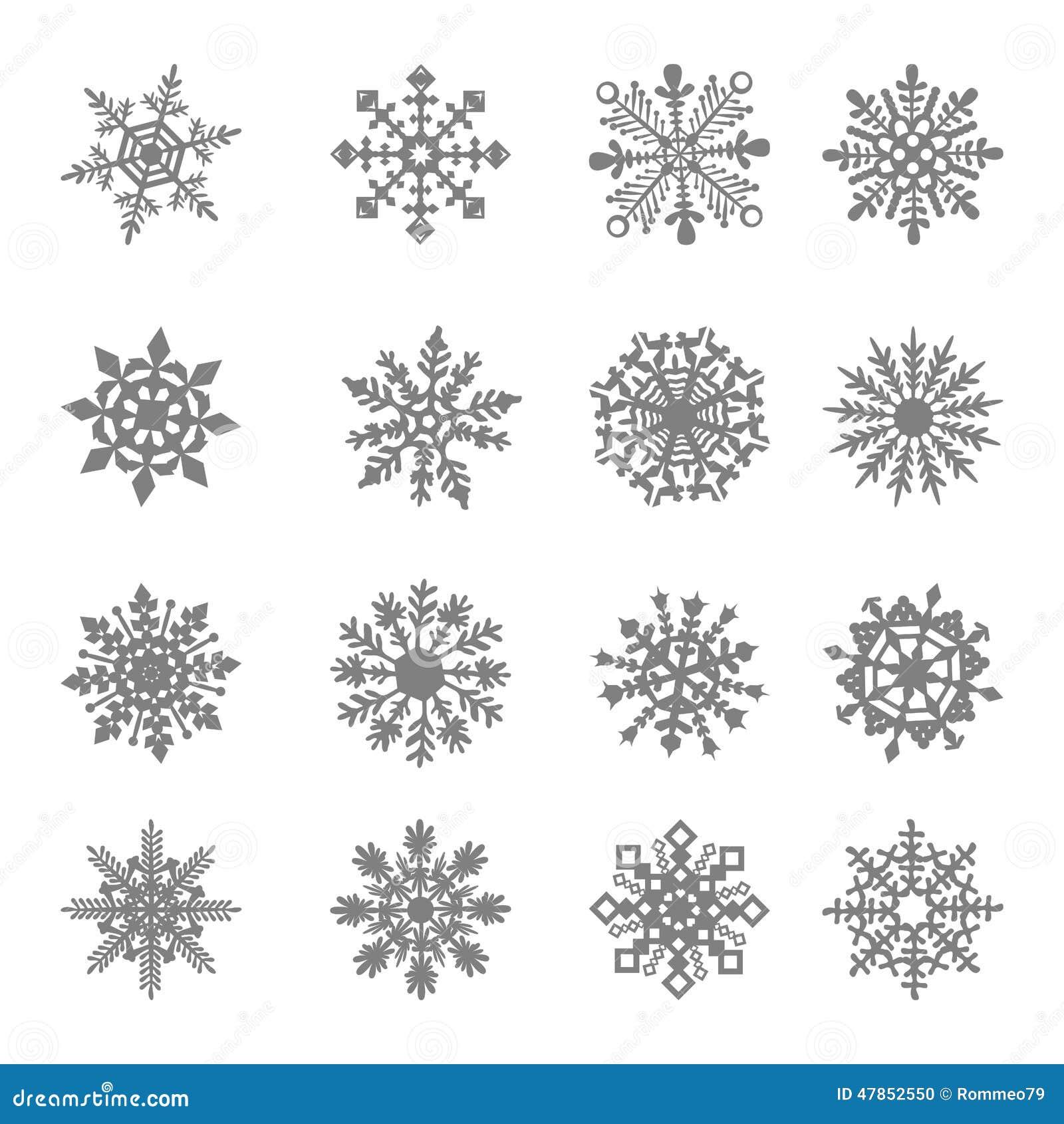 Vector del copo de nieve estrella blanco s mbolo for Estrella de nieve