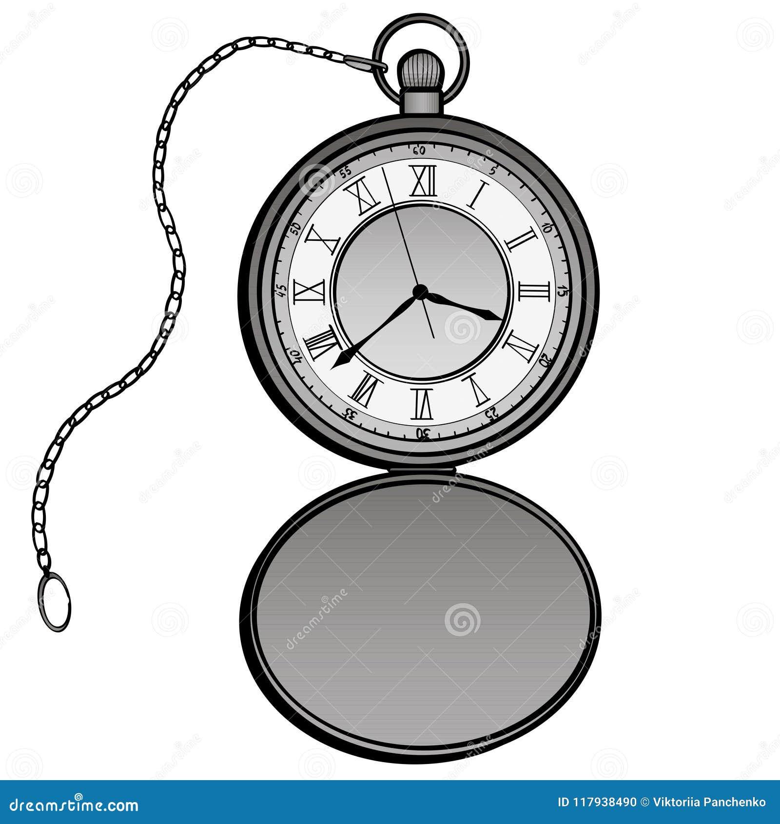15d2dd462074 Ejemplo del vector del diseño de los relojes de bolsillo Reloj separado  Elementos dibujados mano del diseño del garabato del contador de tiempo  Objeto ...
