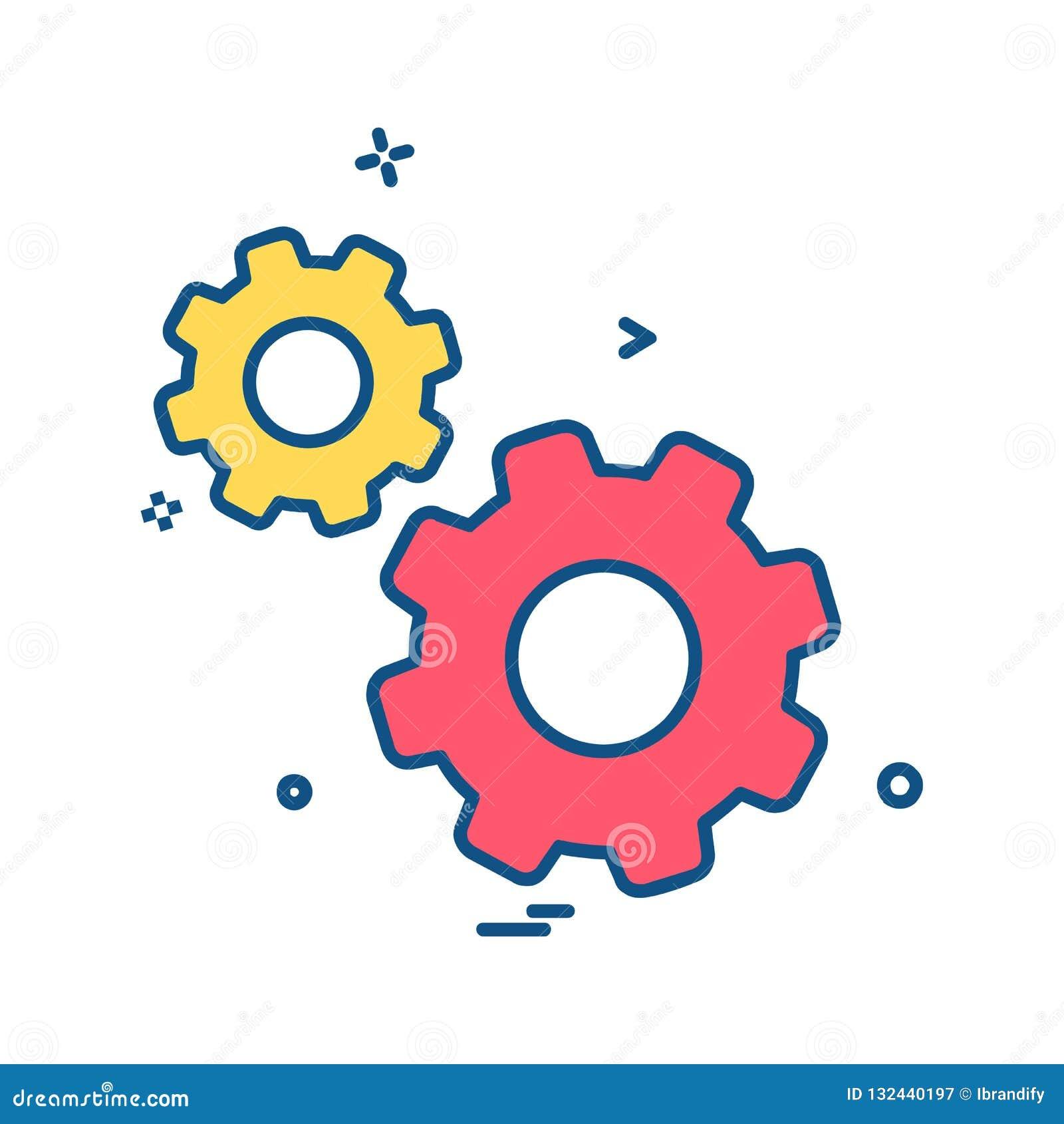 Vector del diseño del icono del engranaje