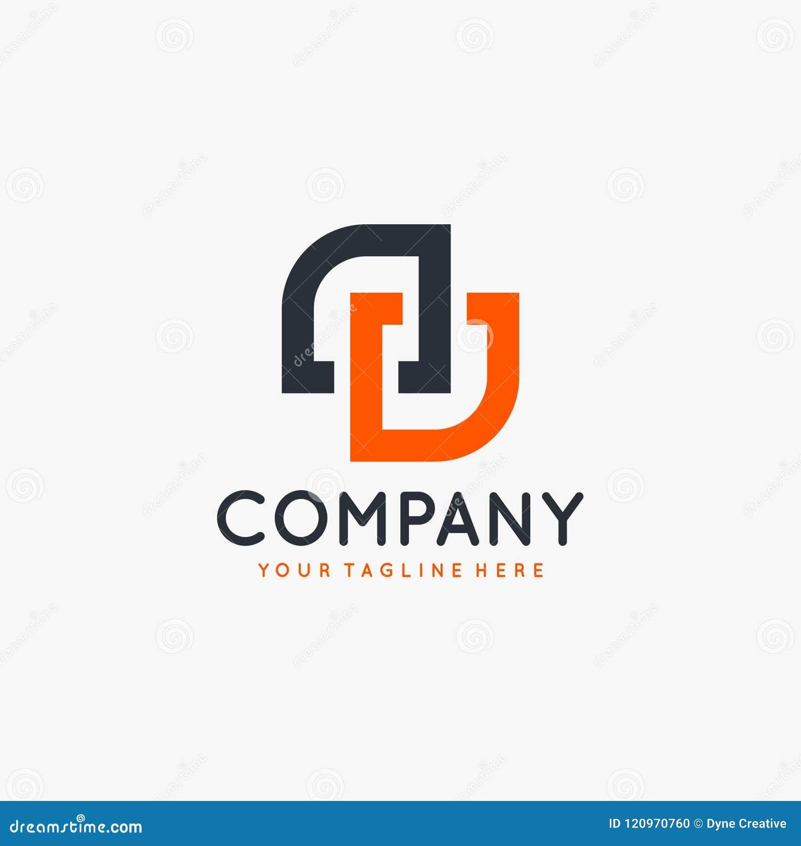 Vector del diseño del logotipo de la letra de la DD