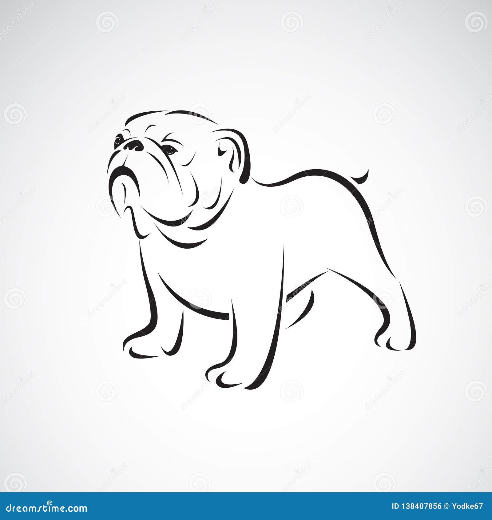Vector del dogo en el fondo blanco pet Animales Logotipo o icono del perro Ejemplo acodado editable fácil del vector