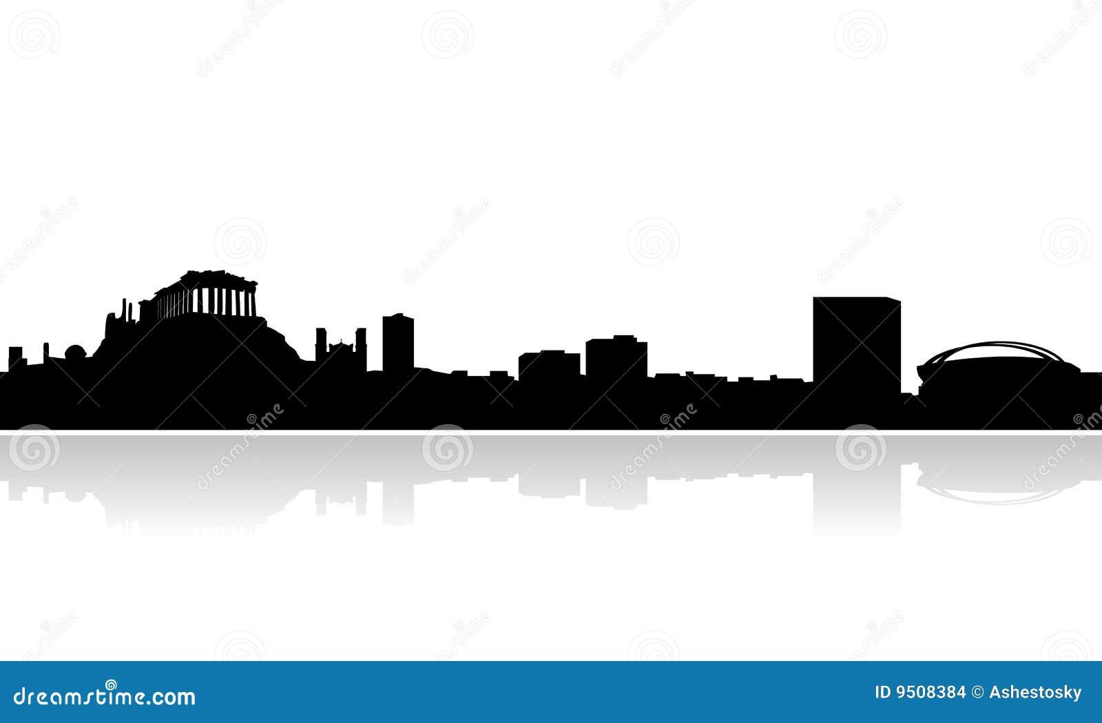 Vector del horizonte de Atenas