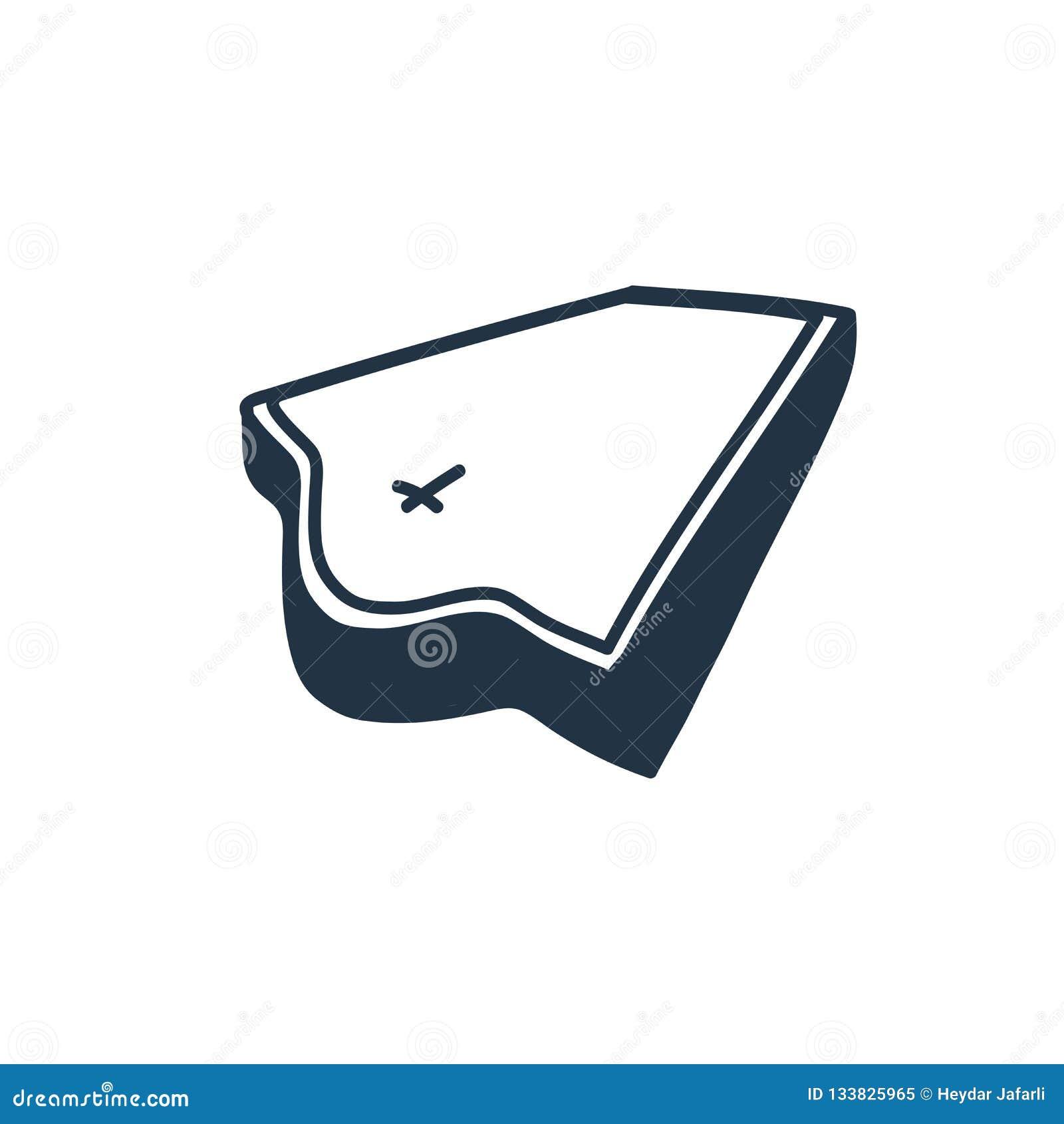 Vector del icono del ataúd aislado en el fondo blanco, muestra del ataúd